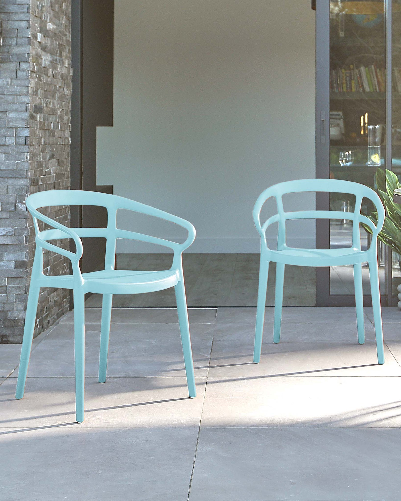 Alma Aqua Garden Chair - Set of 2