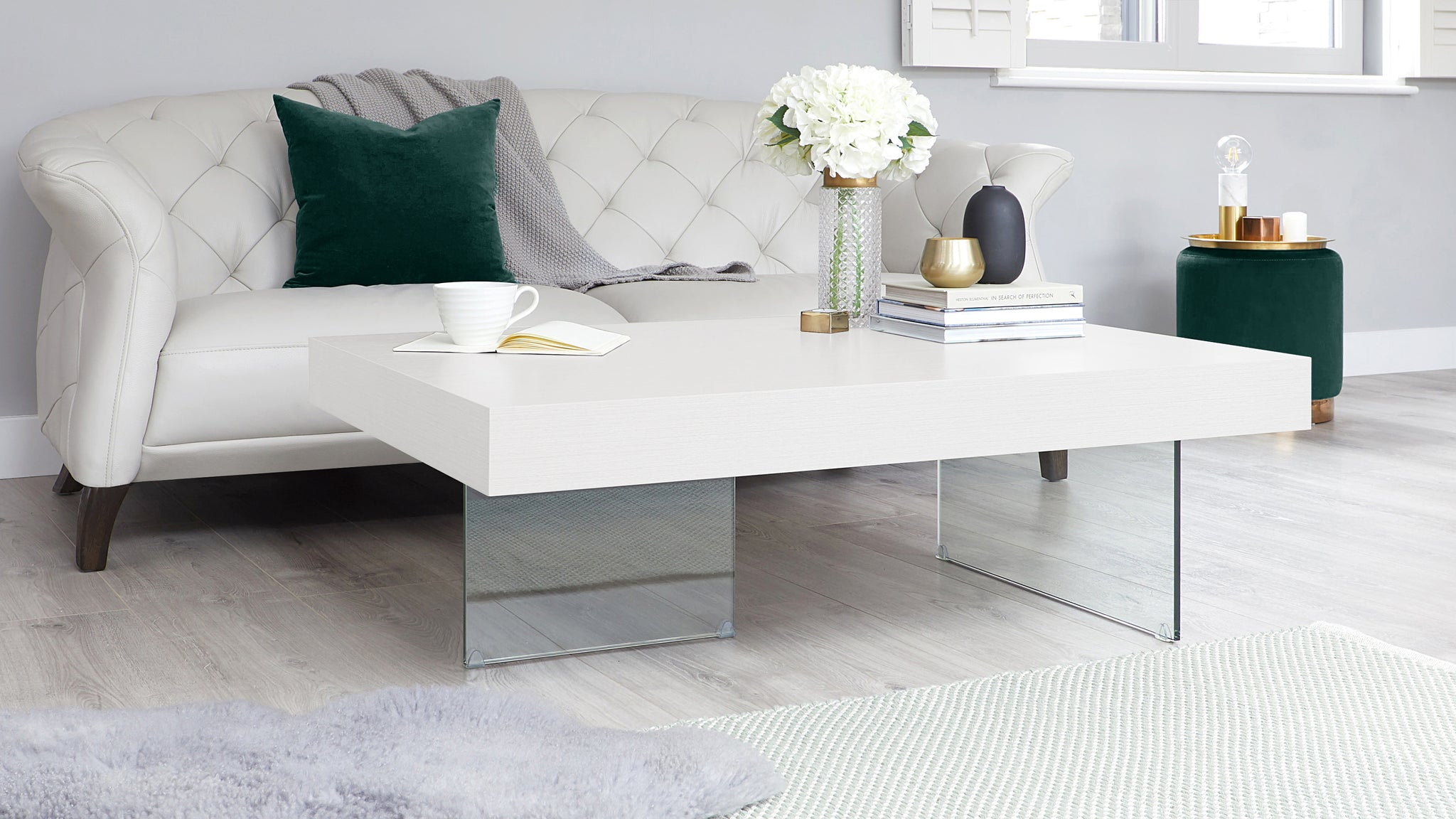 Aria Large White Oak Coffee Table