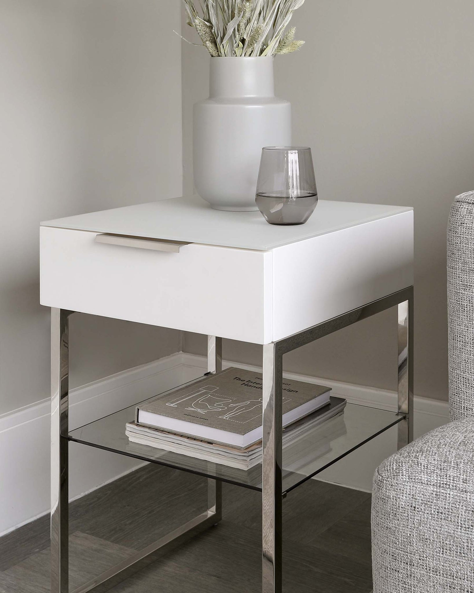 Aspen Matt White Side Table