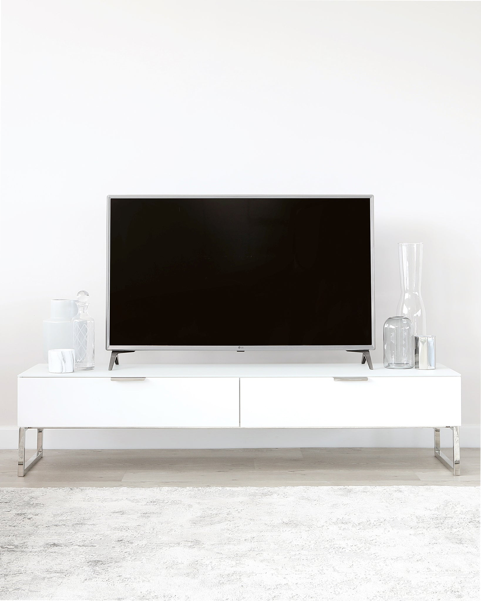 Aspen Matt White TV Stand