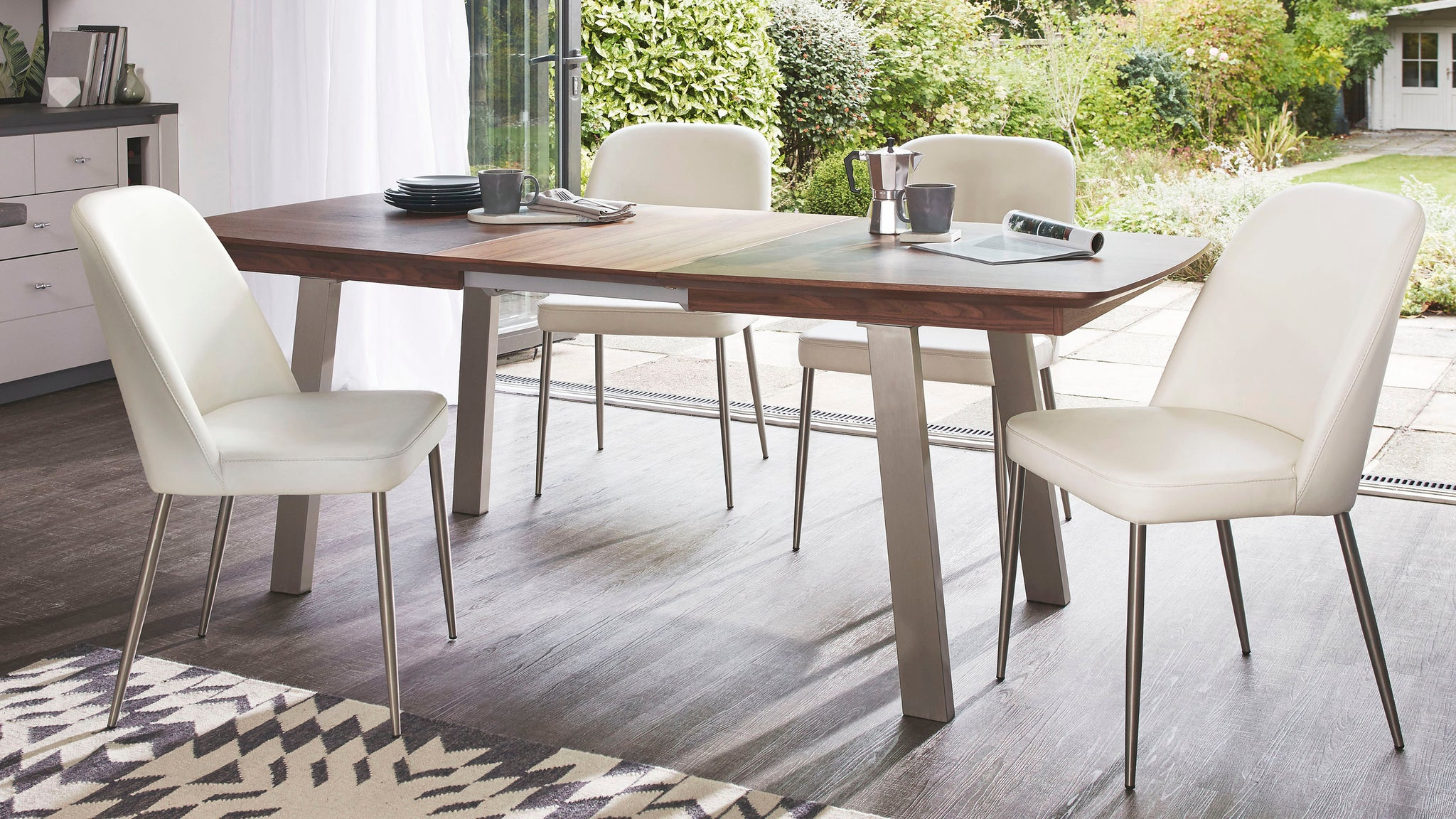 Assi Walnut Extending Dining Table