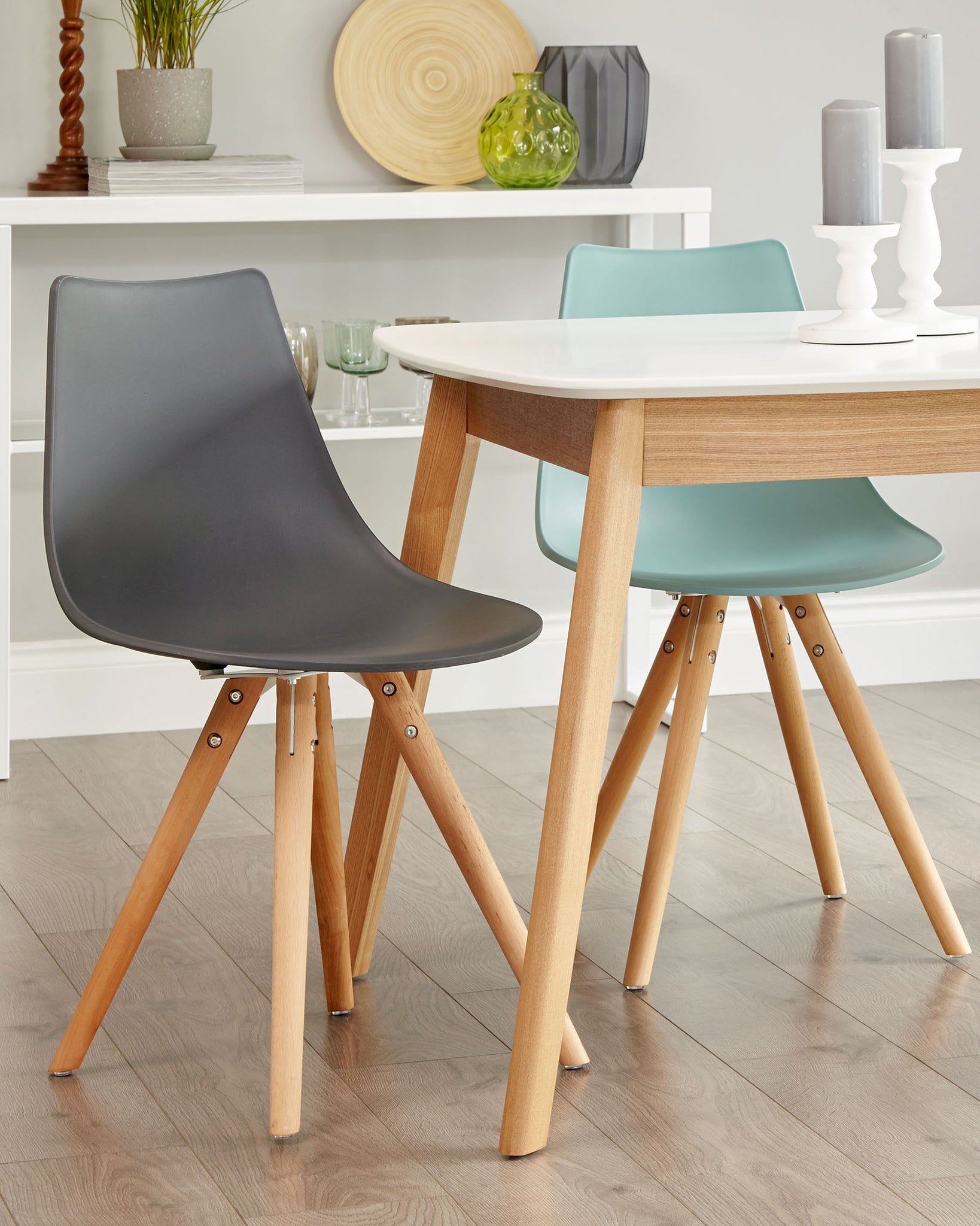 Finn Slate Grey Dining Chair - Set Of 2