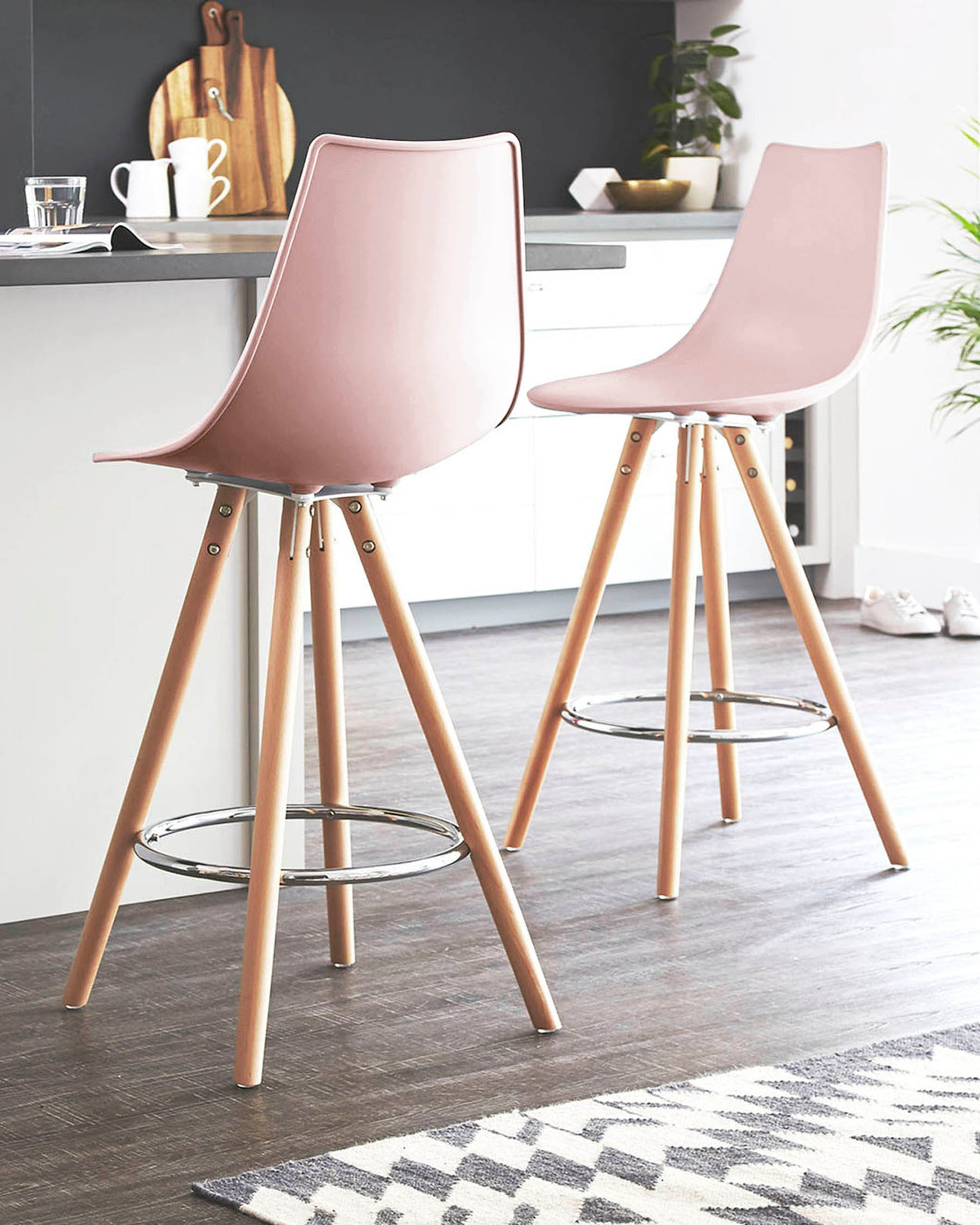 Finn Pink Bar Stool - Set Of 2