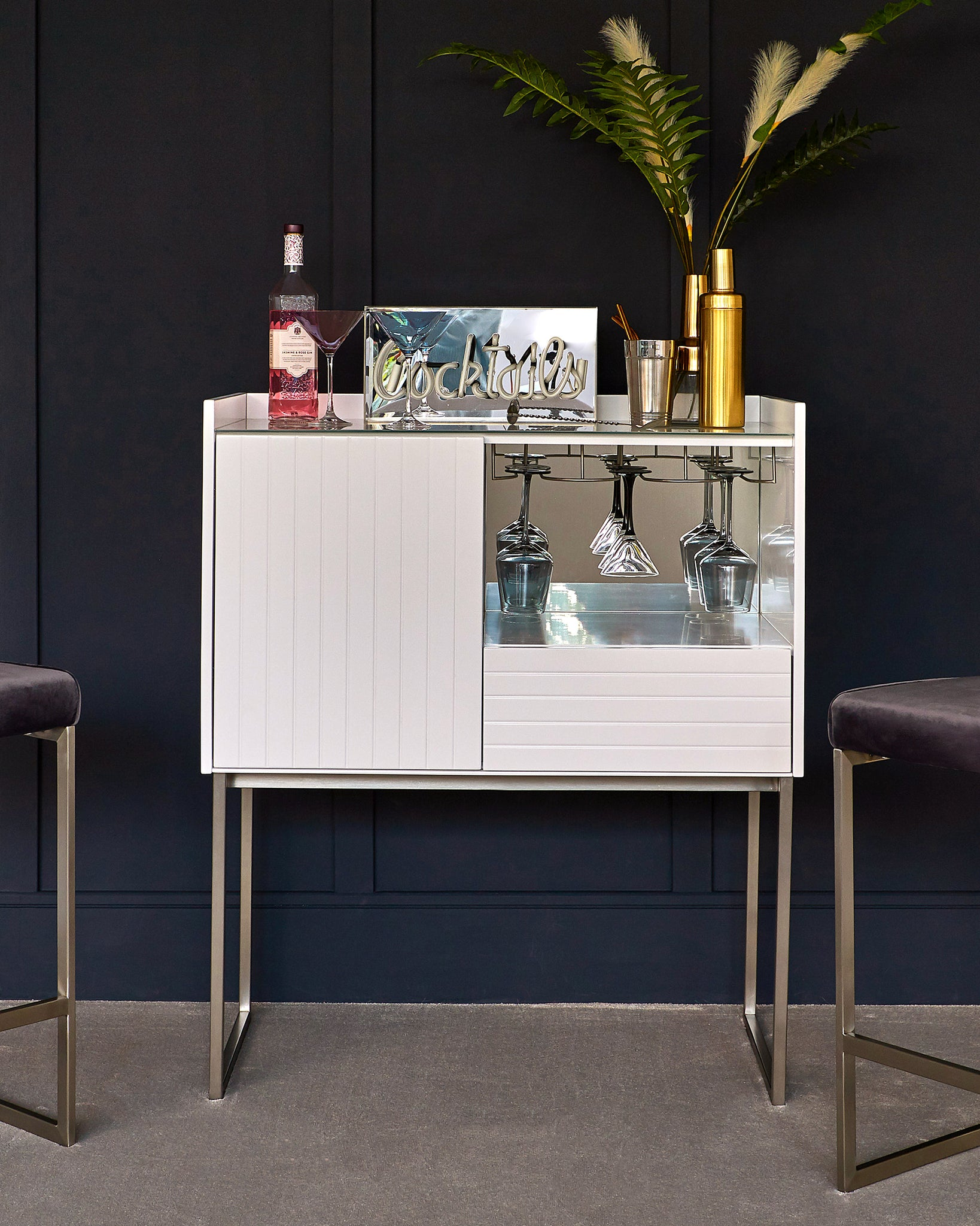 Berkley White Drinks Cabinet
