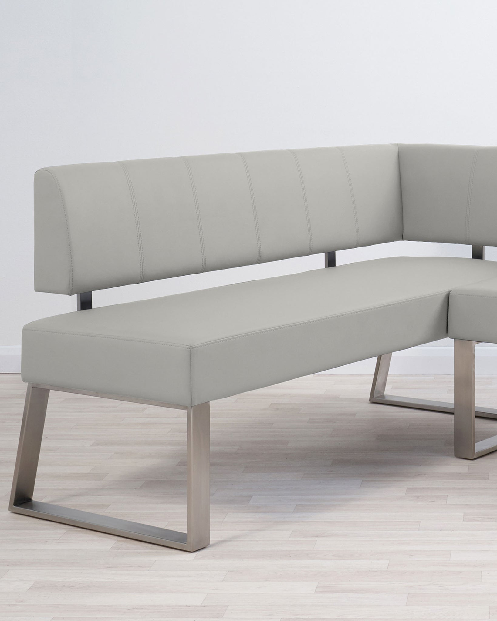 Zen White Gloss And Dover Right Hand Corner Bench Set