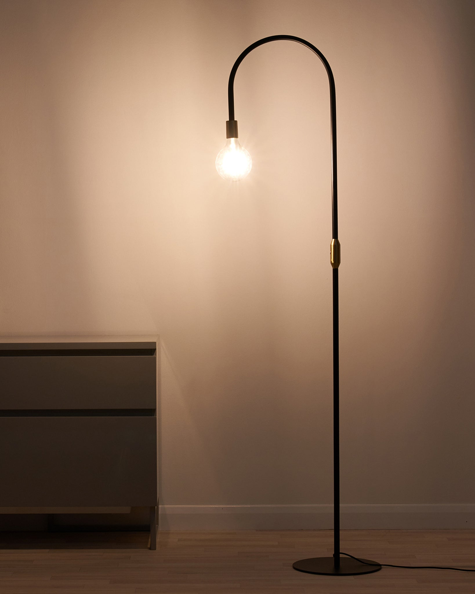 Carmel Black And Brass Floor Lamp