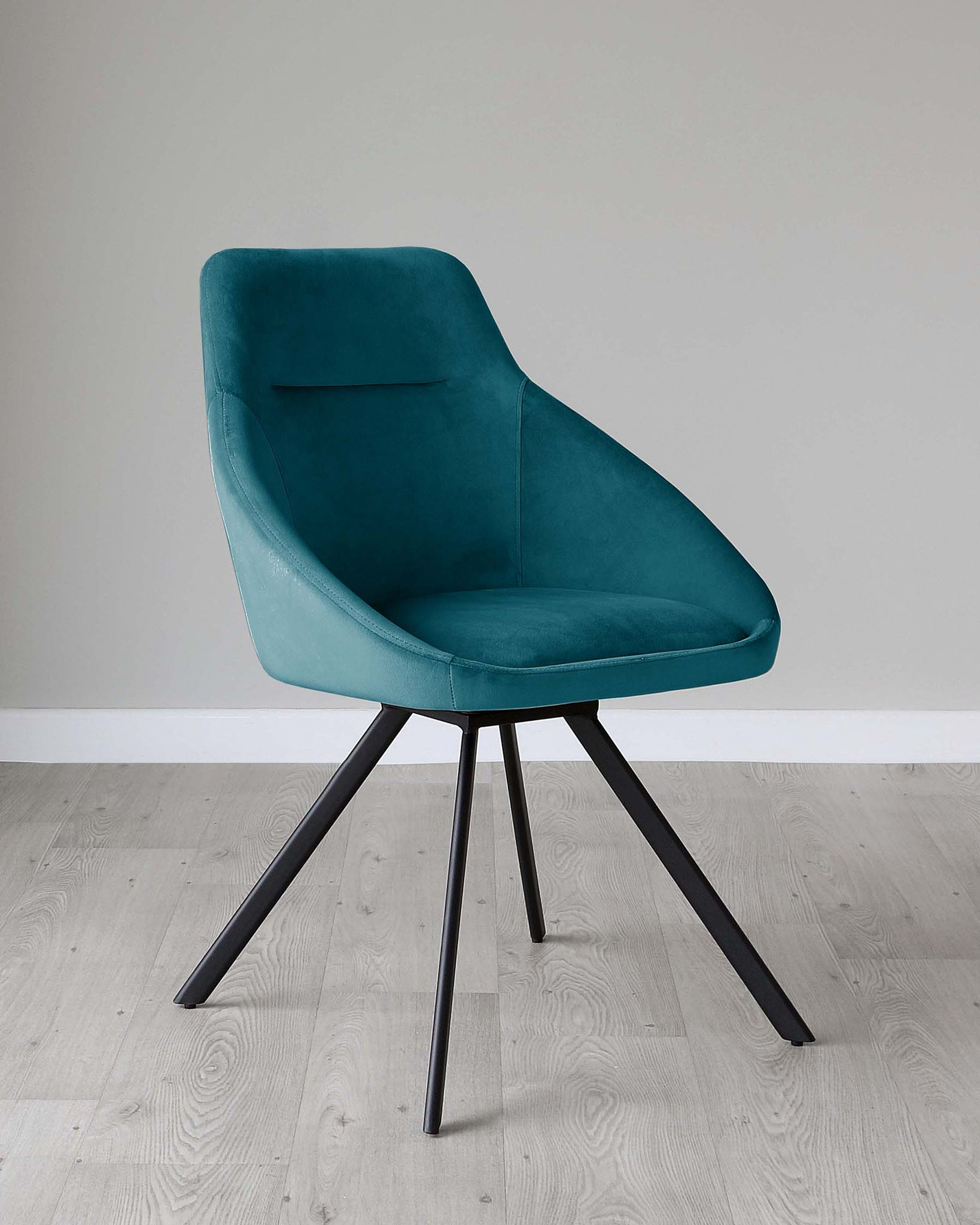 Cleo Dark Teal Velvet Swivel Chair