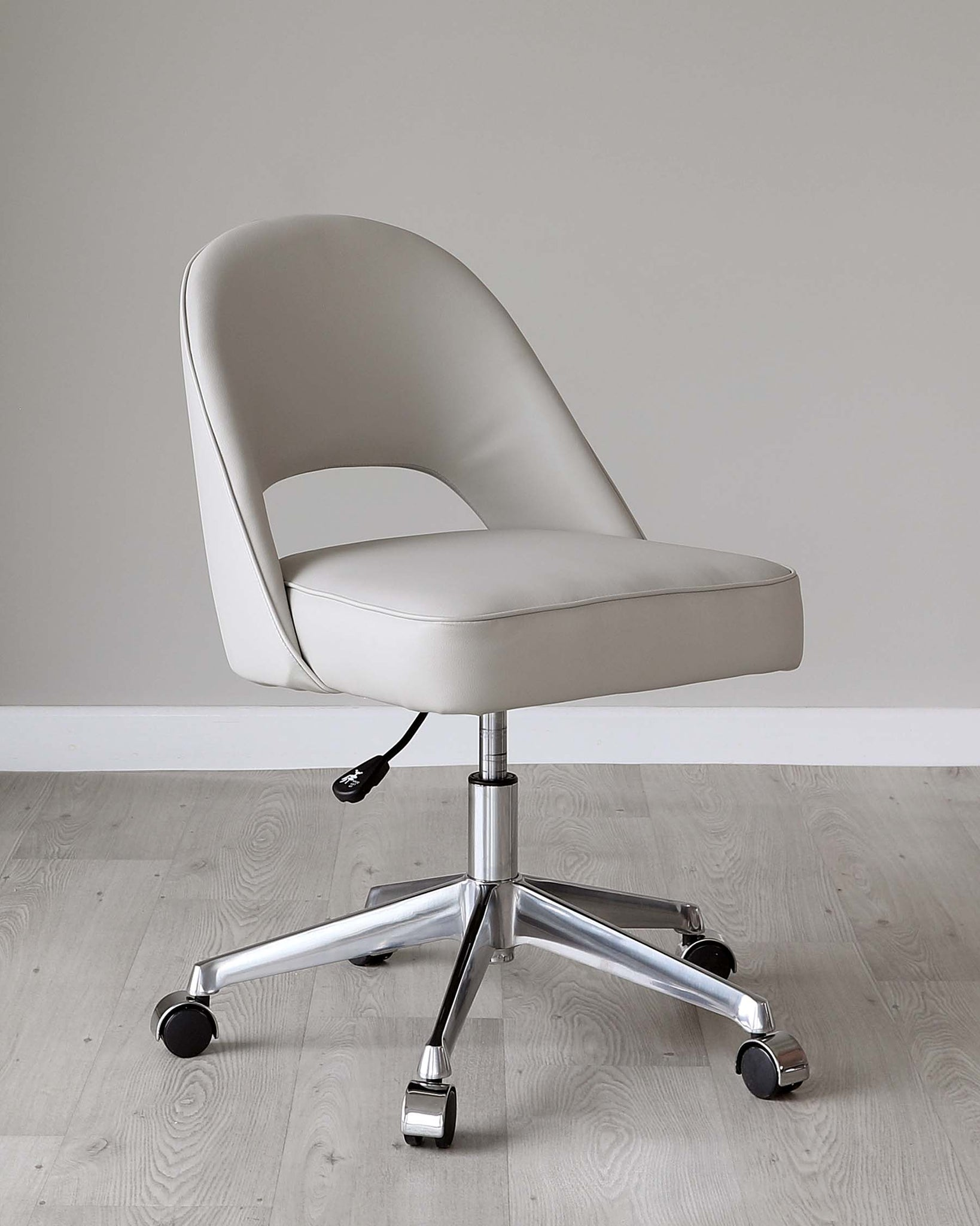 Clover Light Grey Faux Leather Office Chair