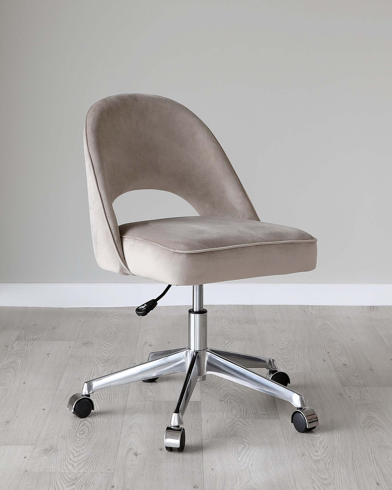 Clover Champagne Velvet Office Chair
