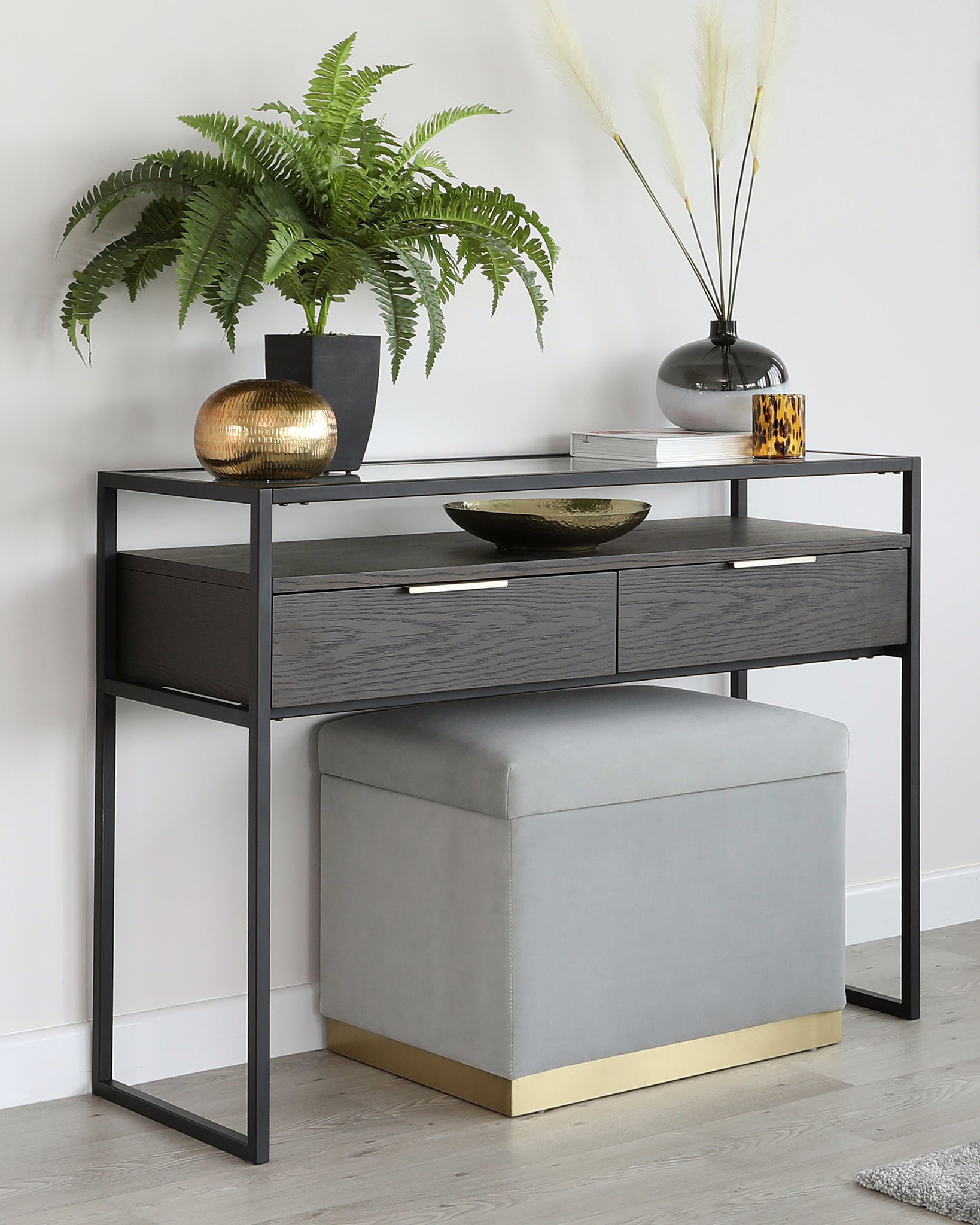 Denver Dark Oak Console Table
