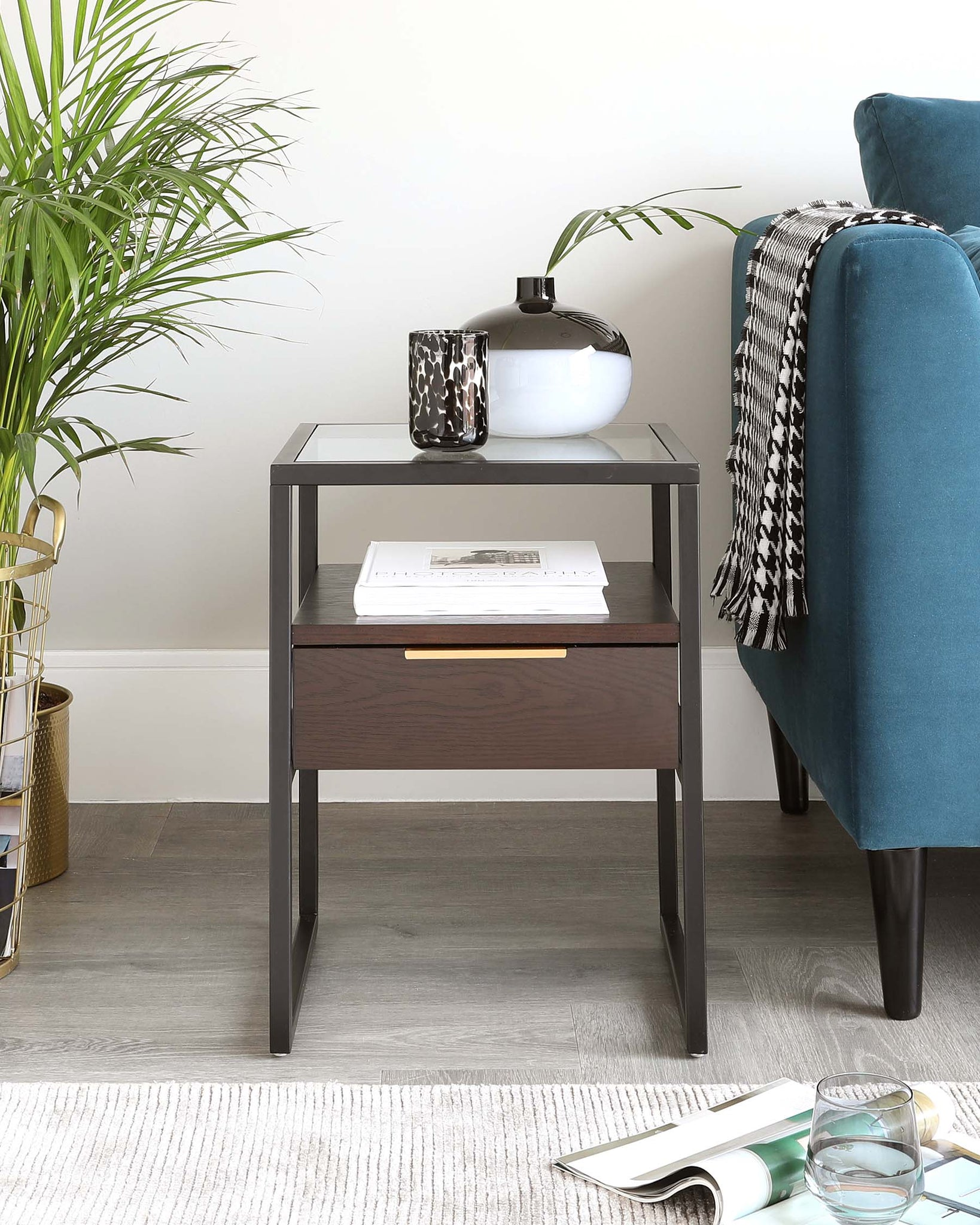 Denver Dark Oak Side Table
