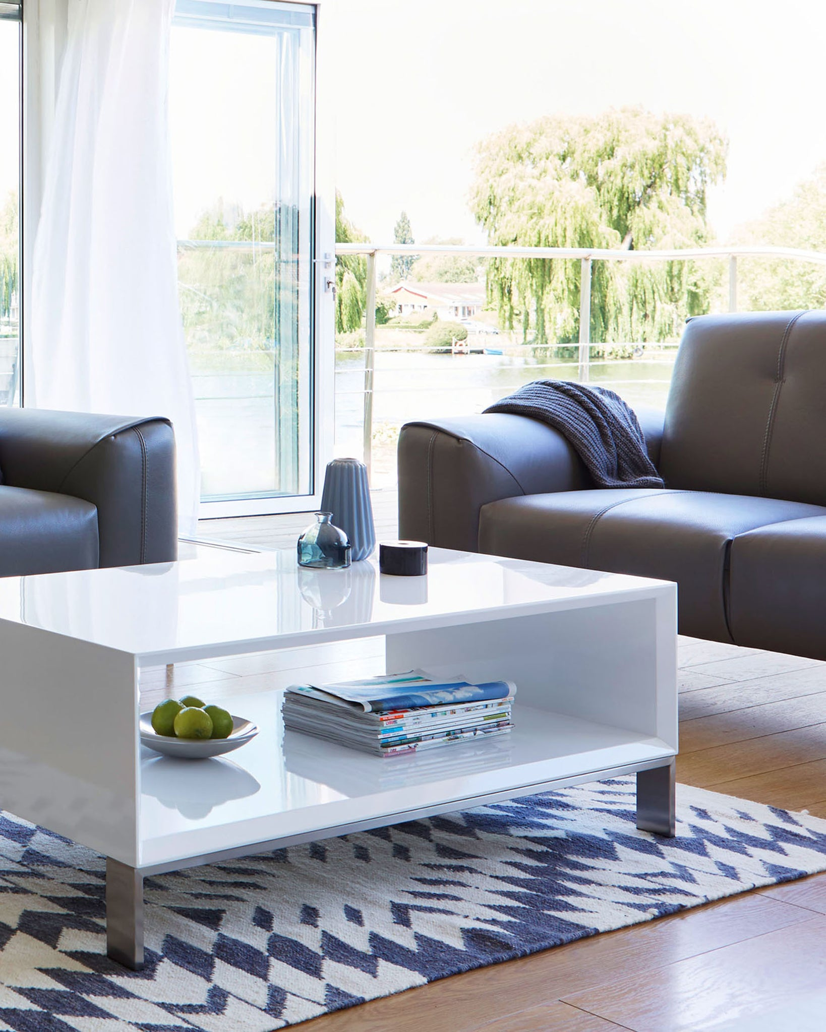 Halo White Gloss Coffee Table