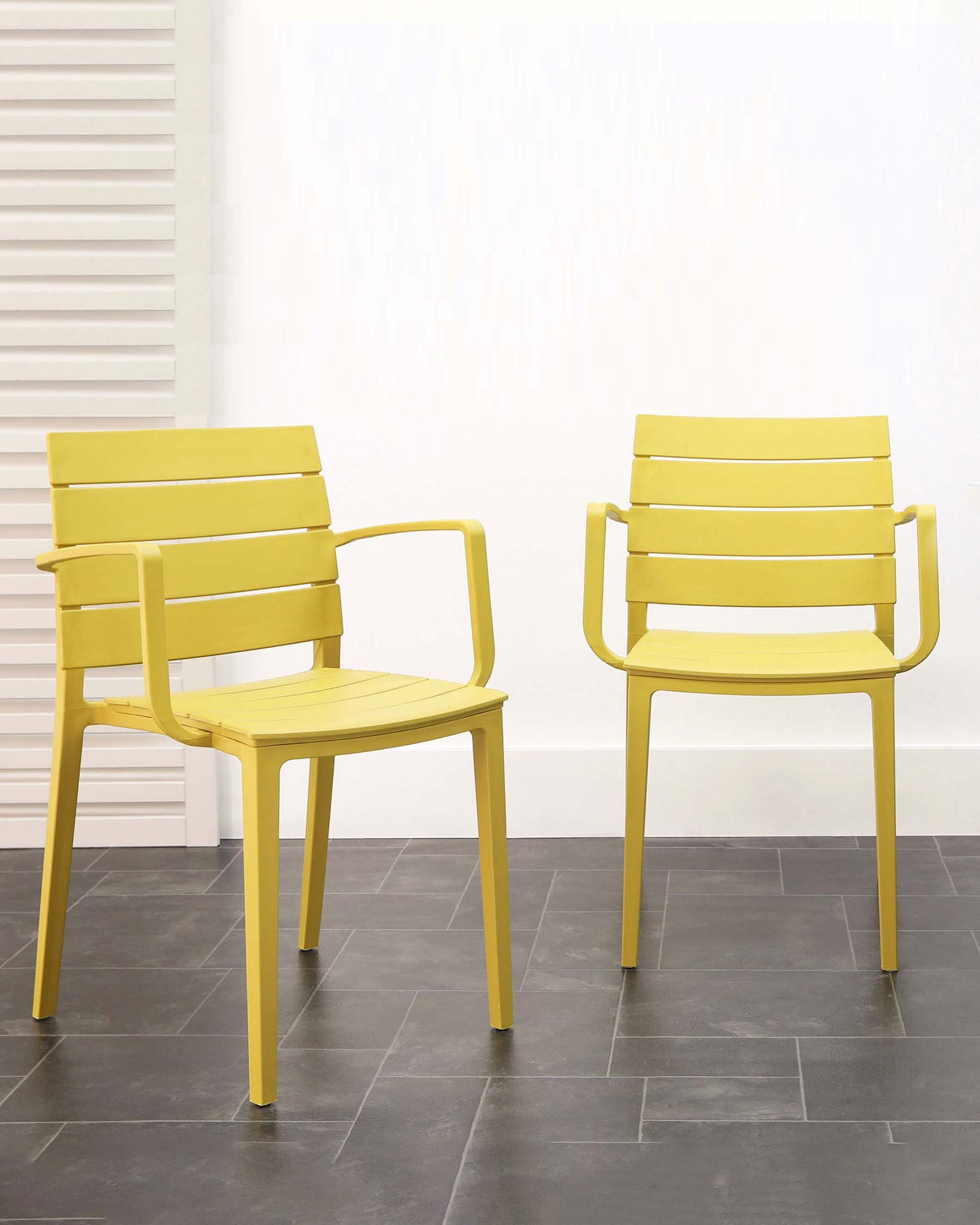 Edie Mustard Yellow Garden Armchair - Set of 2