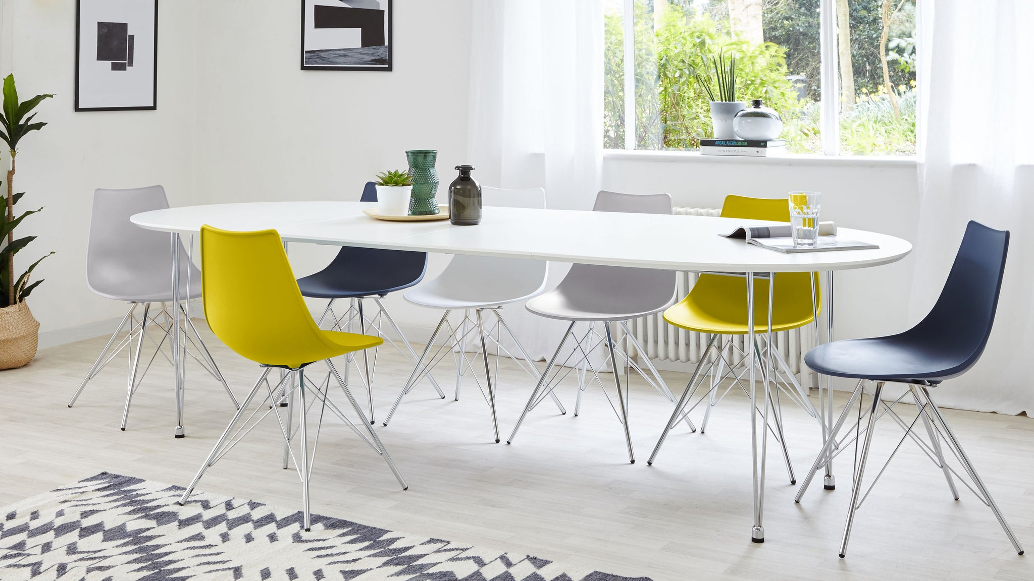 Ellie White Extending And Stylo Dining Set