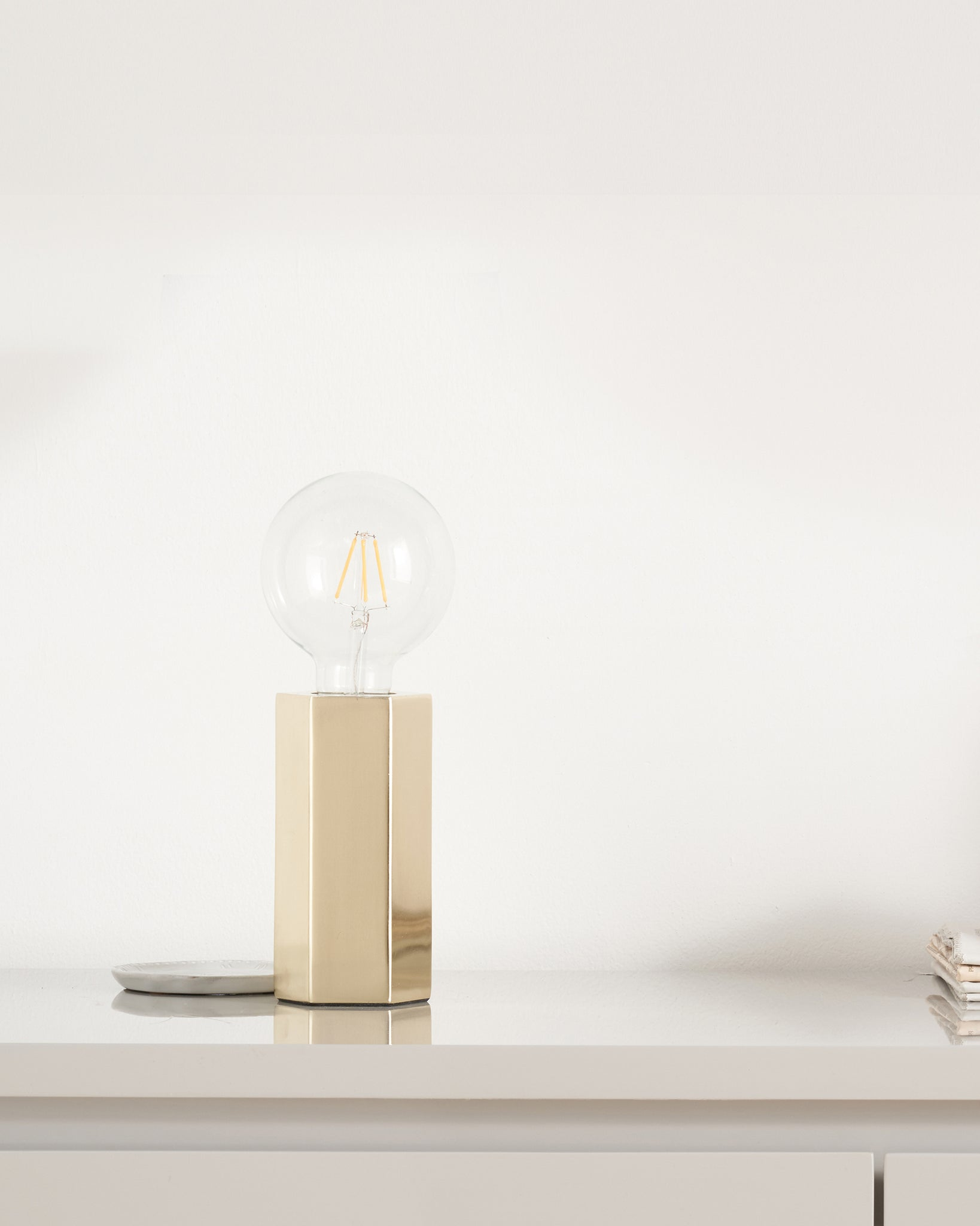 Felix Hexagonal Brass Table Lamp