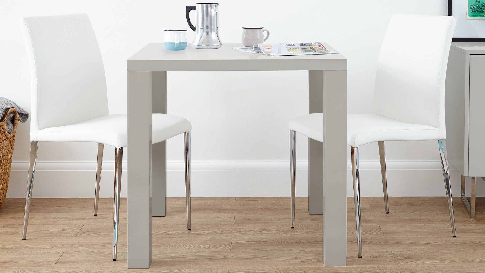 Fern Grey Gloss and Elise Kitchen Dining Set