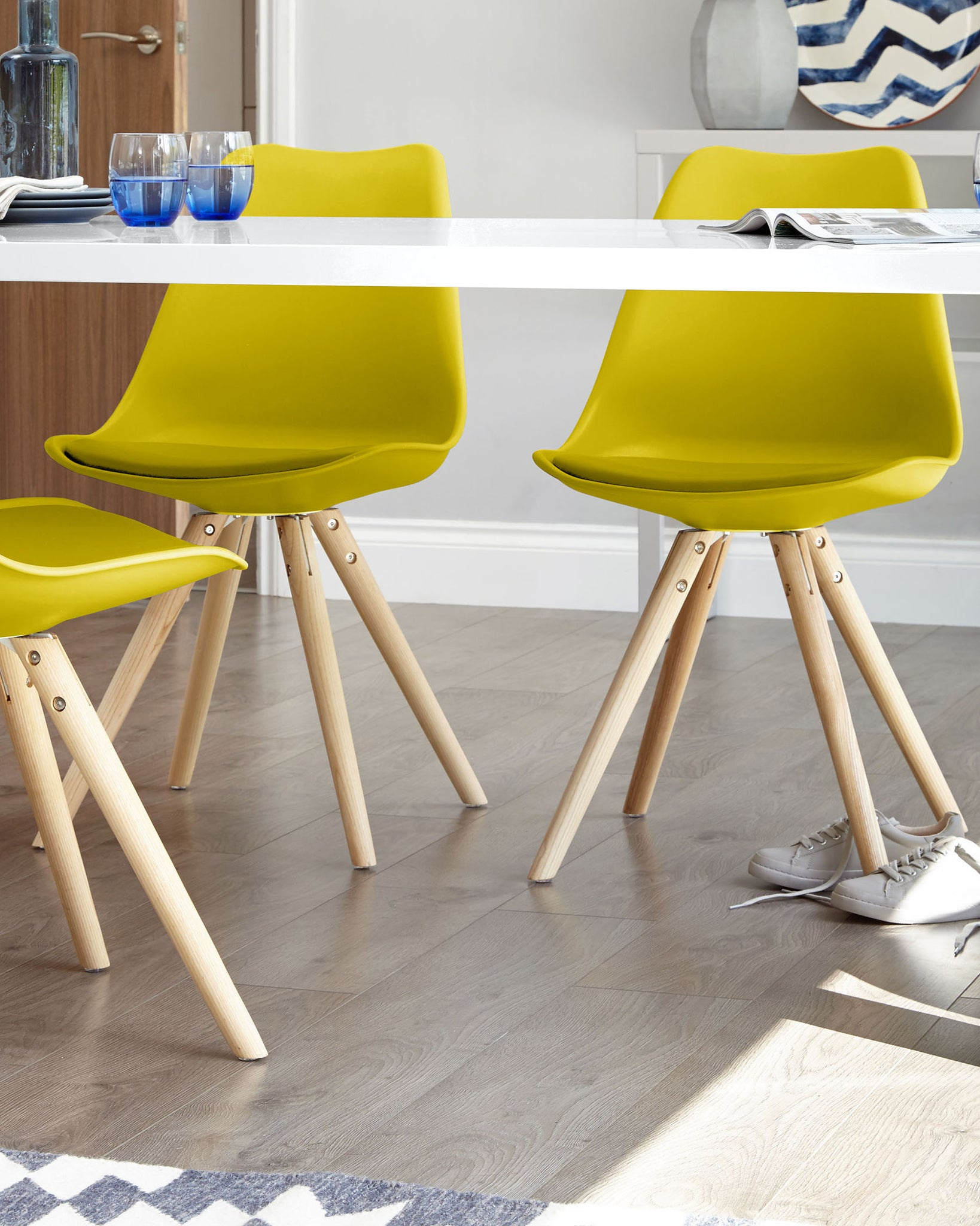 Ida Mustard Yellow Dining Chair - Set Of 2
