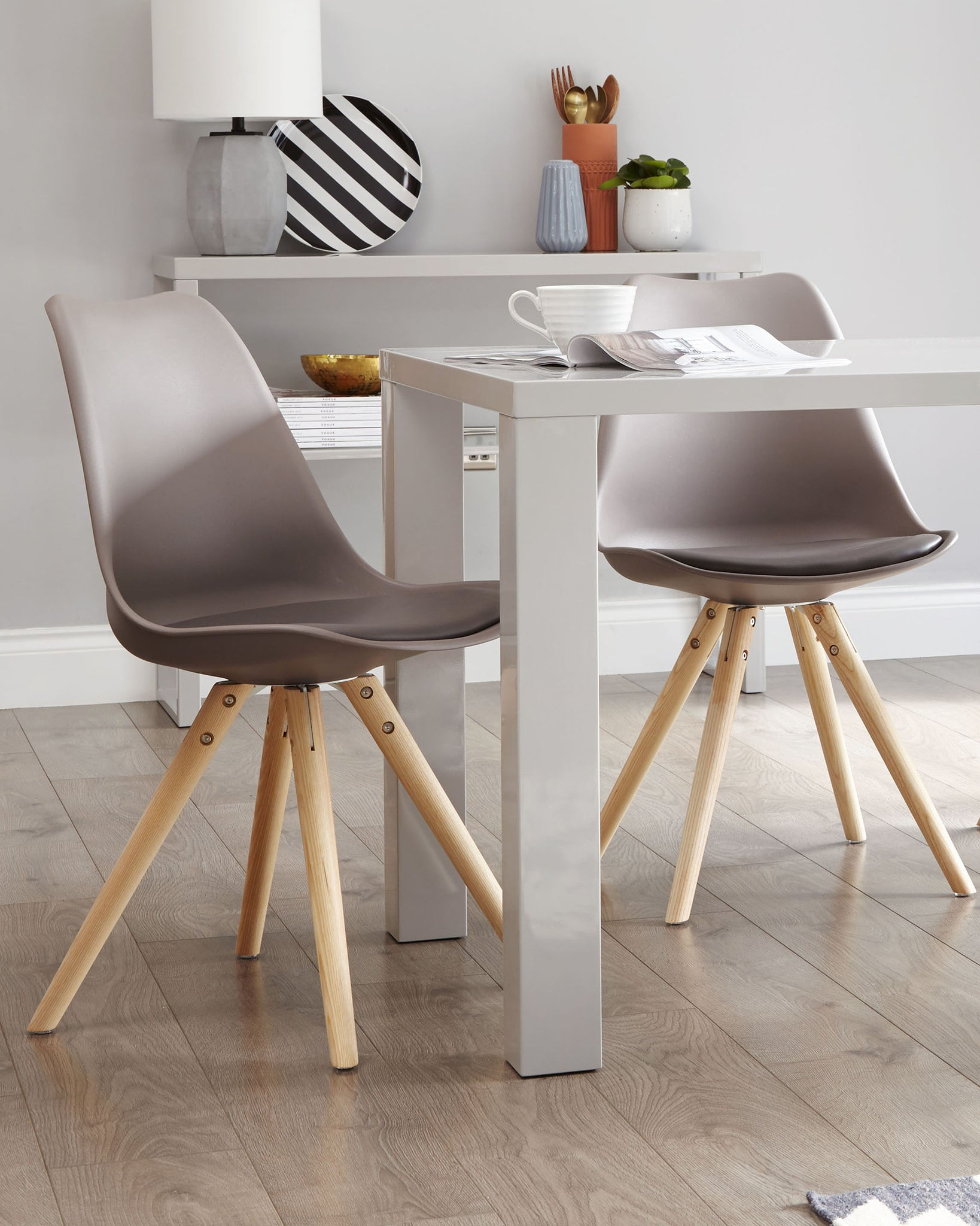 Ida Taupe Dining Chair - Set Of 2
