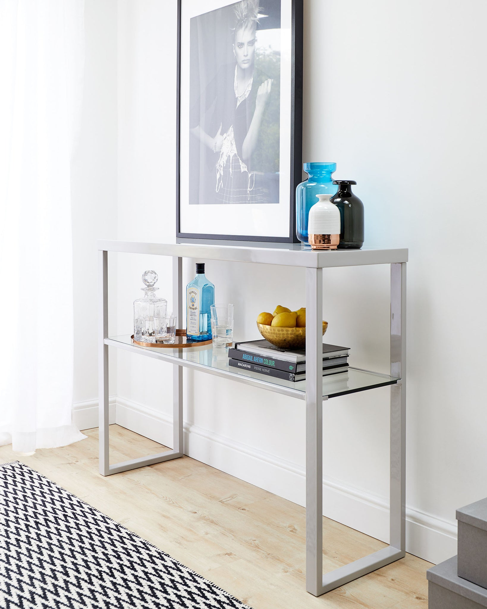 Fern Grey Gloss Console Table