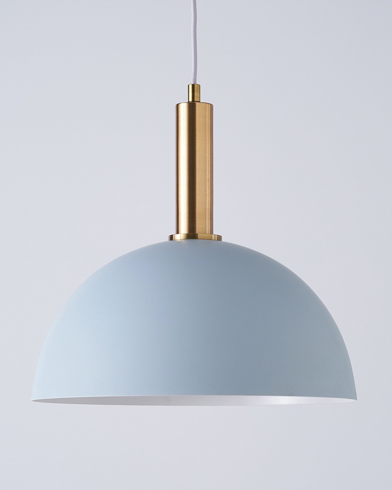 Fiesta Dome Grey And Brass Pendant Light