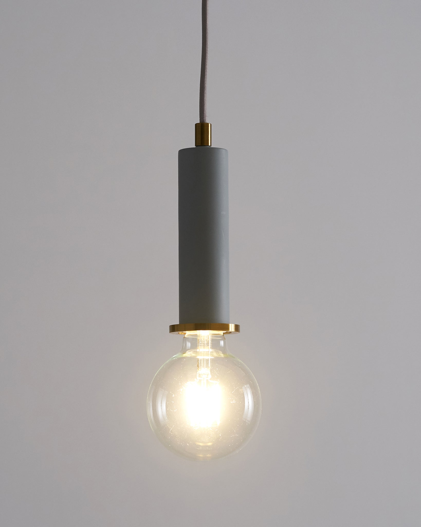 Fiesta Grey And Brass Pendant Light