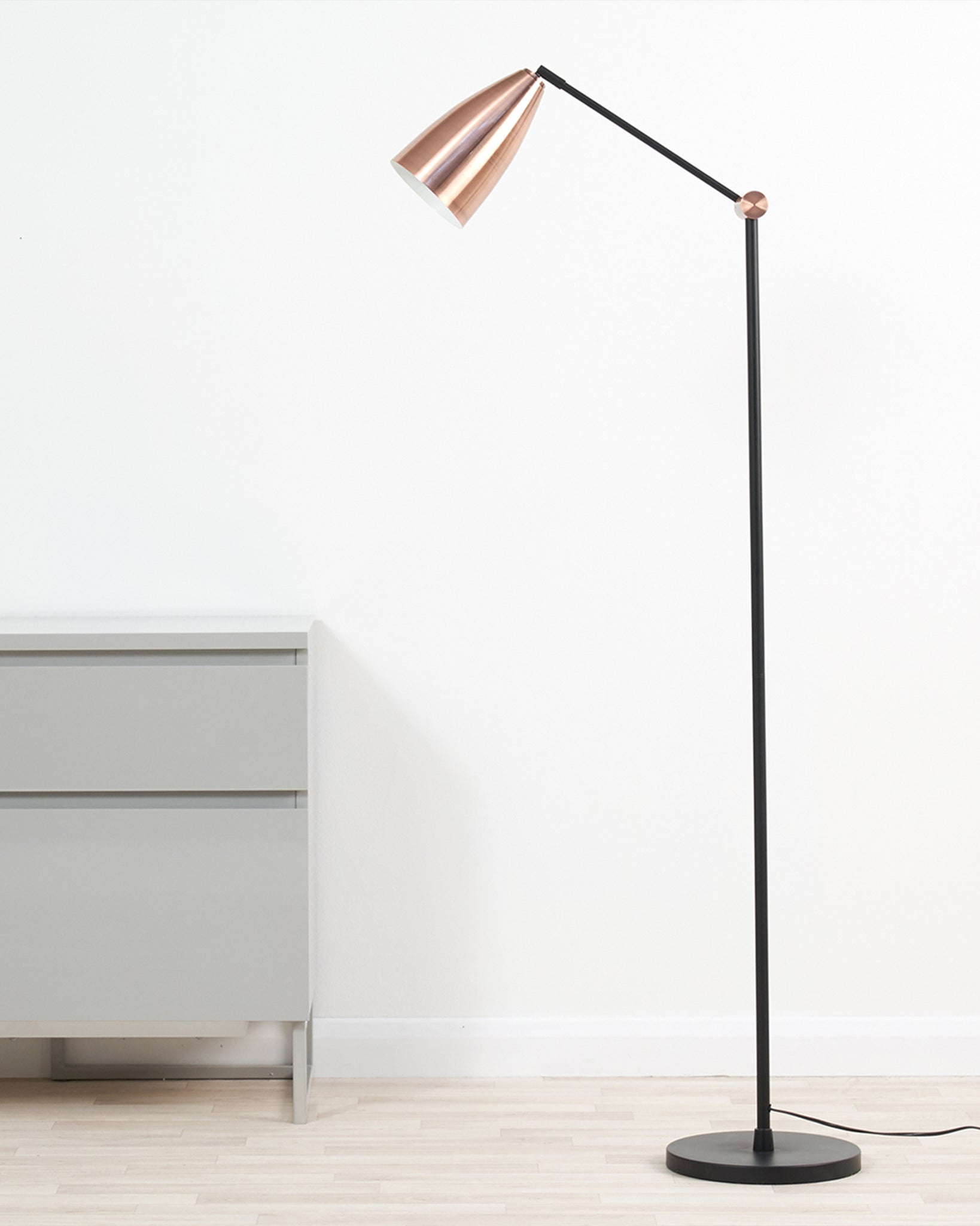 Flo Black And Copper Floor Lamp