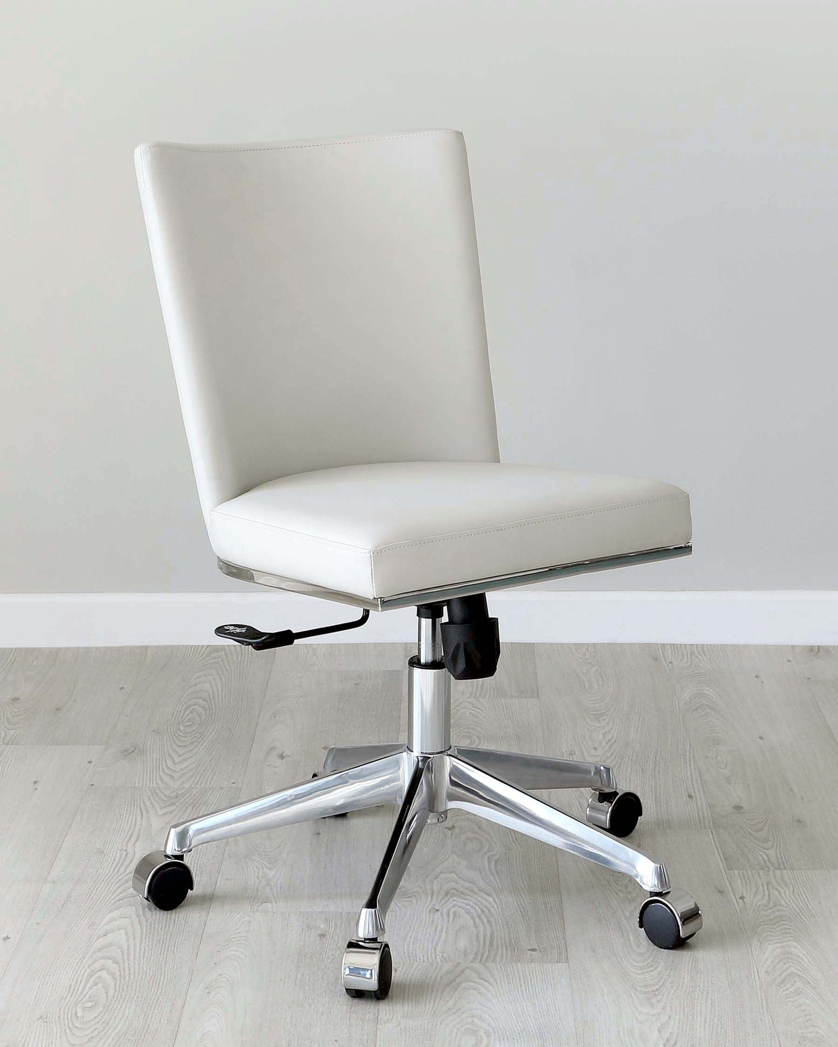 Form Light Grey Faux Leather Office Chair