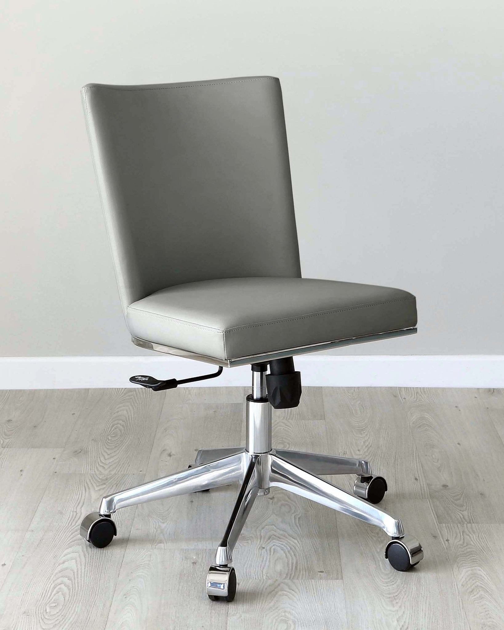 Form Mid Grey Faux Leather Office Chair