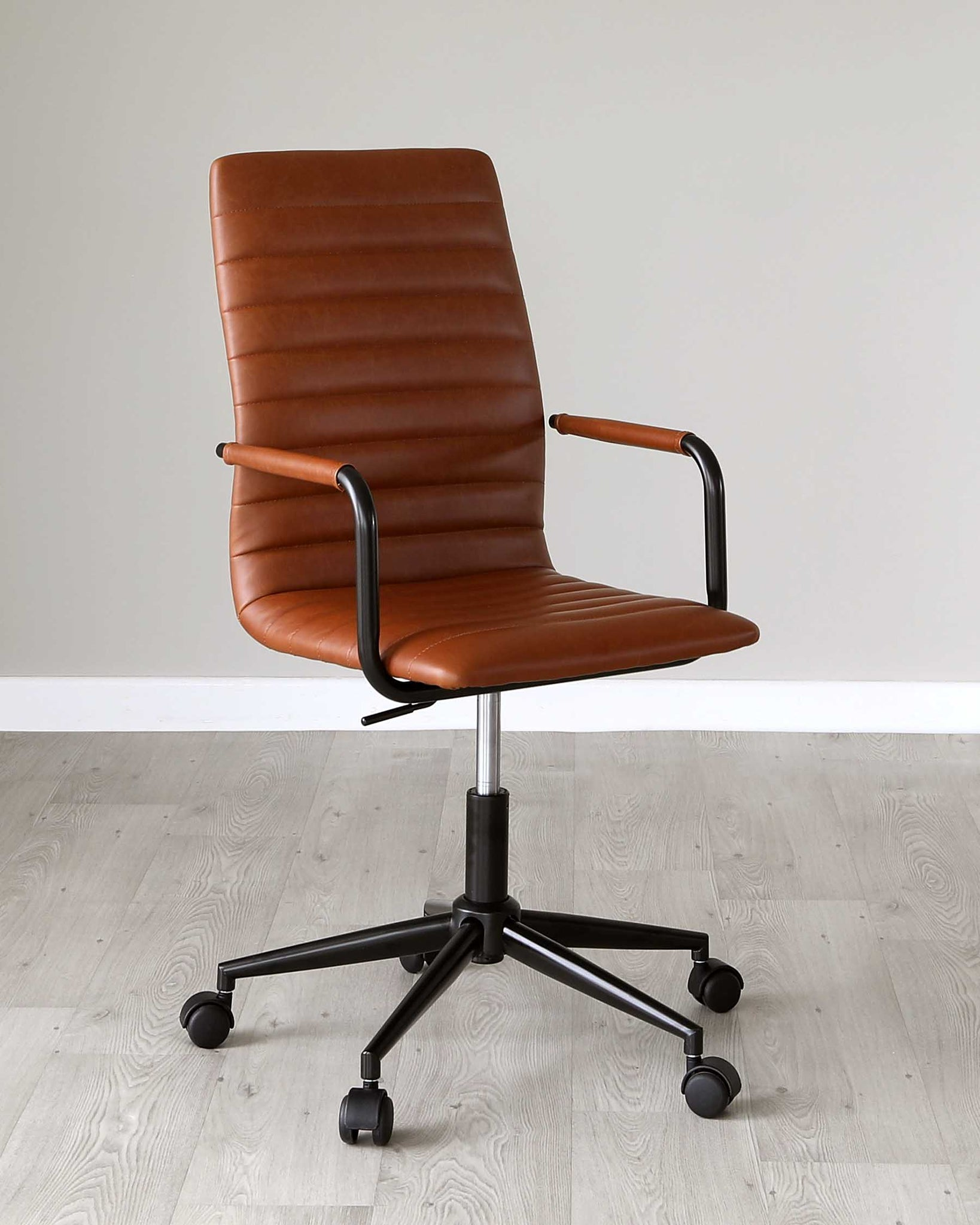 Foster Tan Faux Leather Office Chair