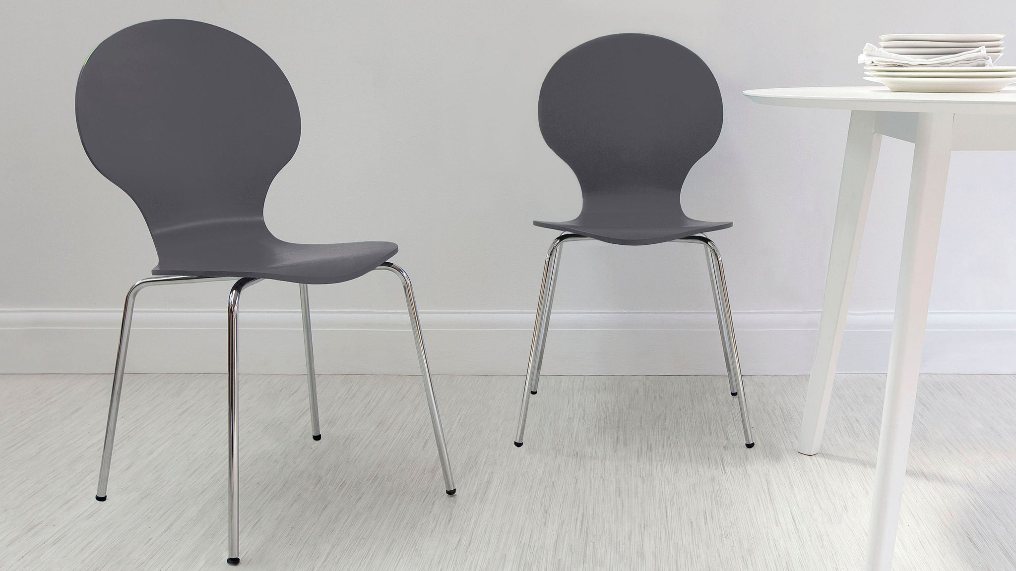Fern Dark Grey Dining Chair - Set Of 2