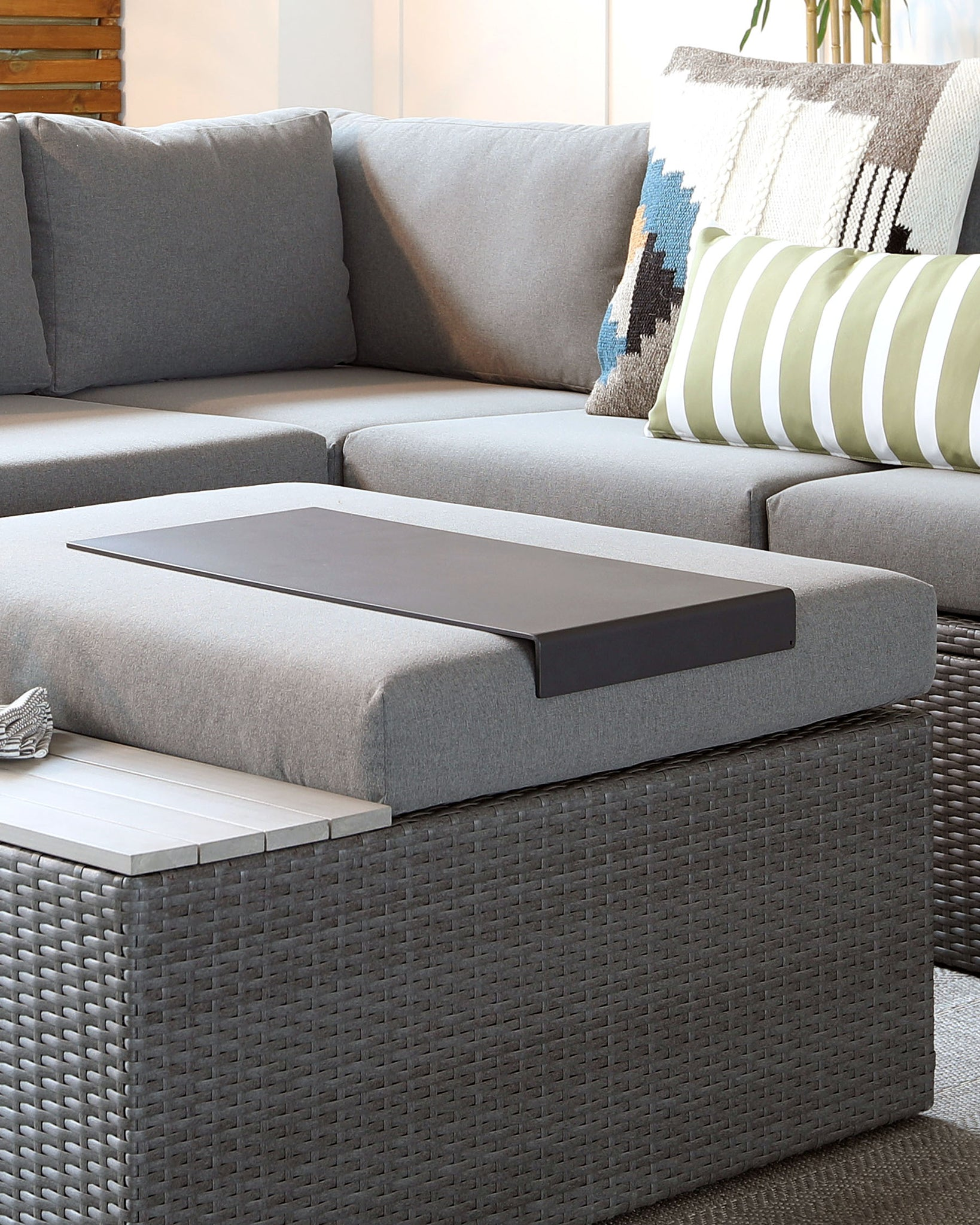 Vita Grey Slim Garden Tray Table