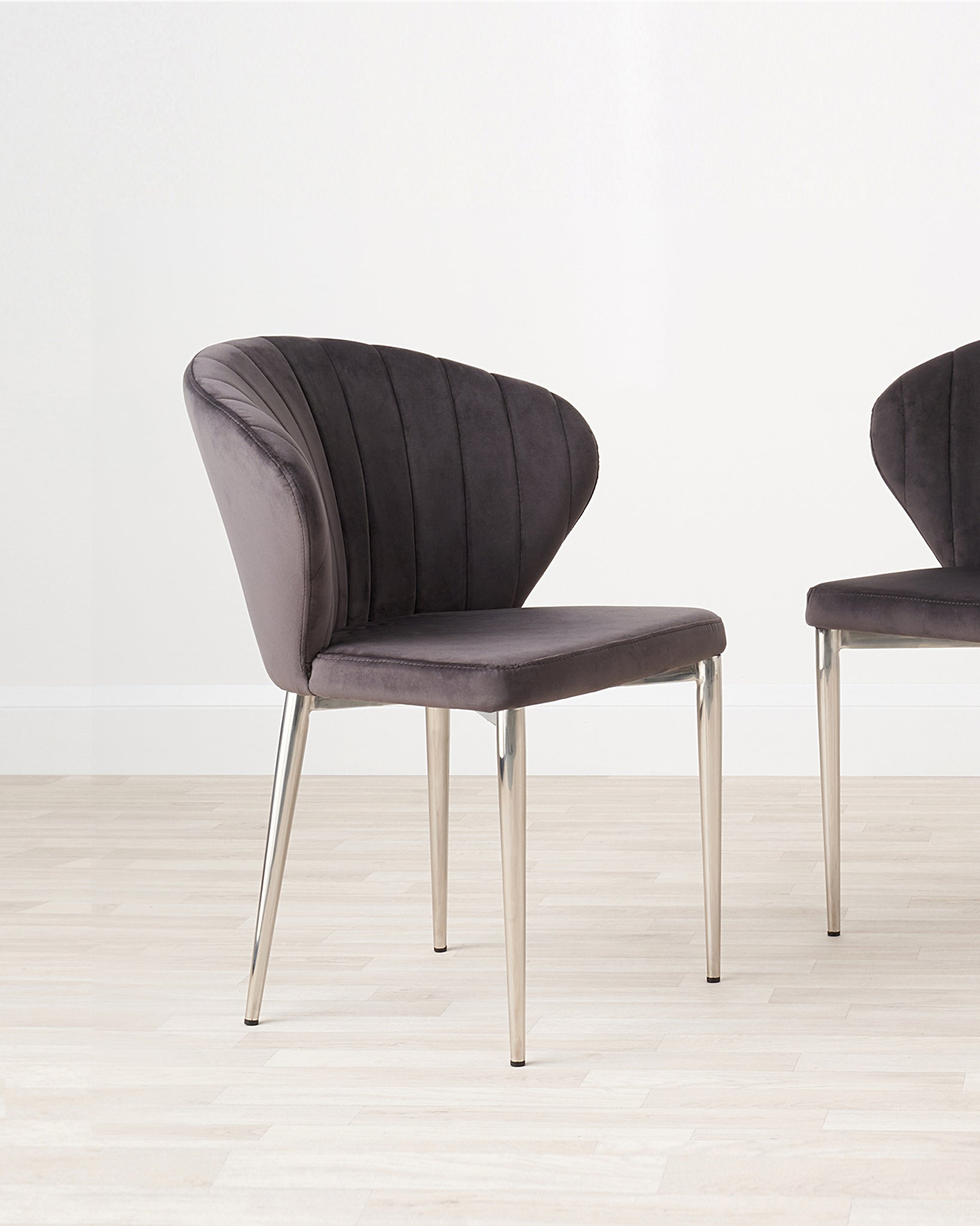 Harper Dark Grey Velvet Dining Chair