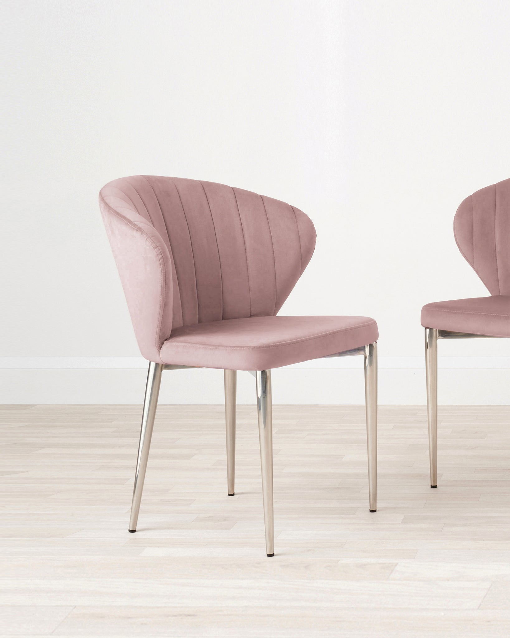 Harper Pink Velvet Dining Chair