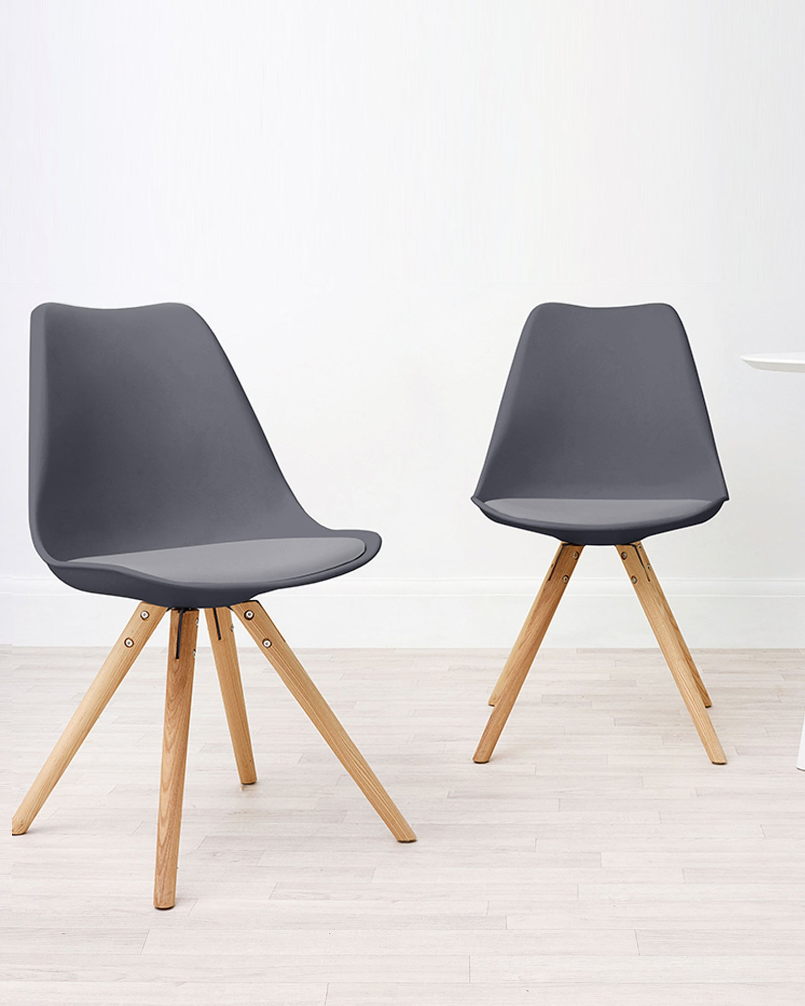 Ida Dark Grey Dining Chair - Set Of 2