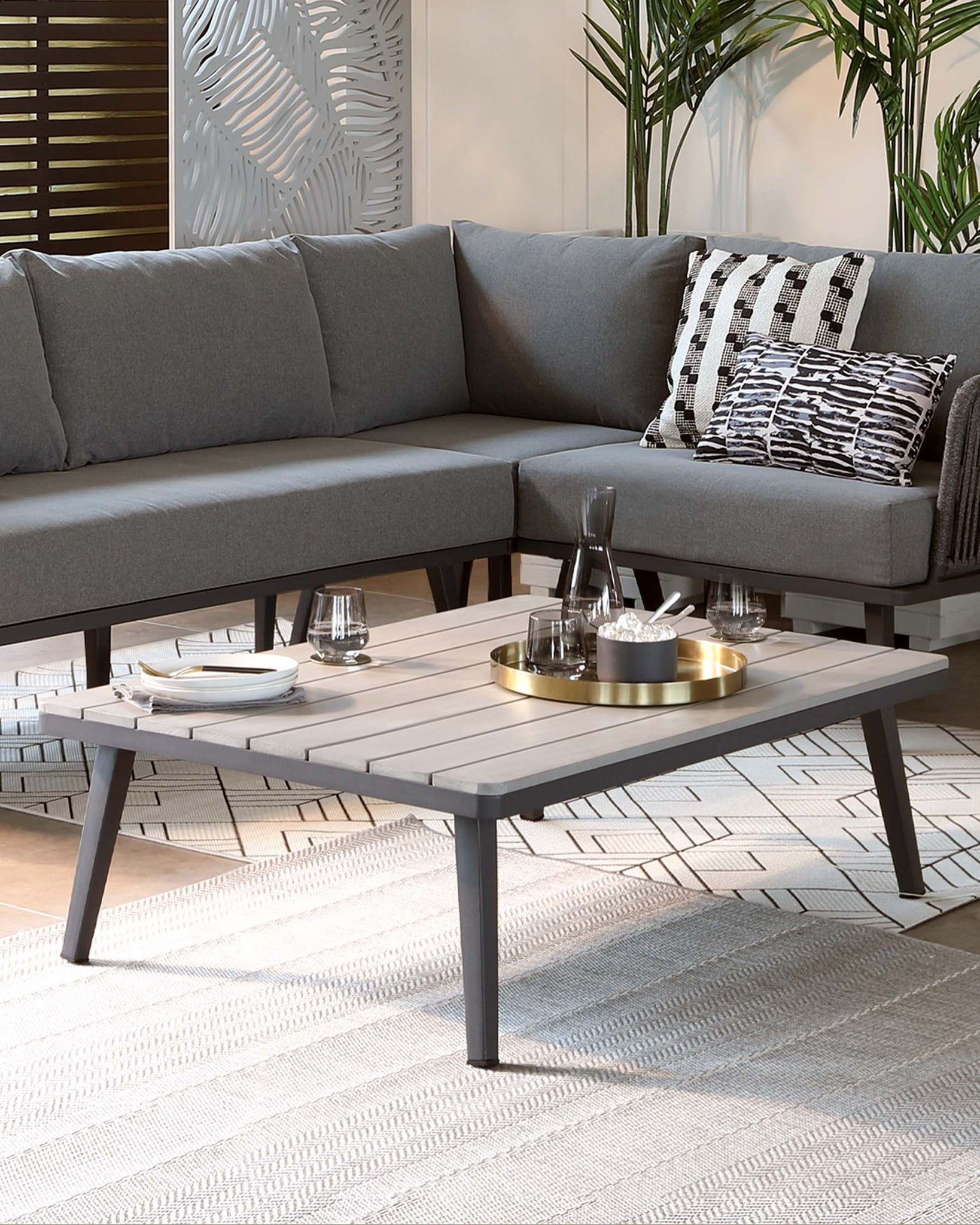 Ivy Grey Garden Coffee Table