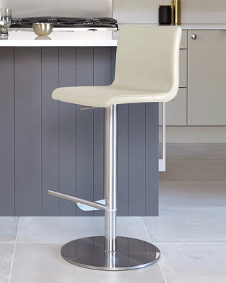 Elise Stainless Steel Contemporary Bar Stools Danetti