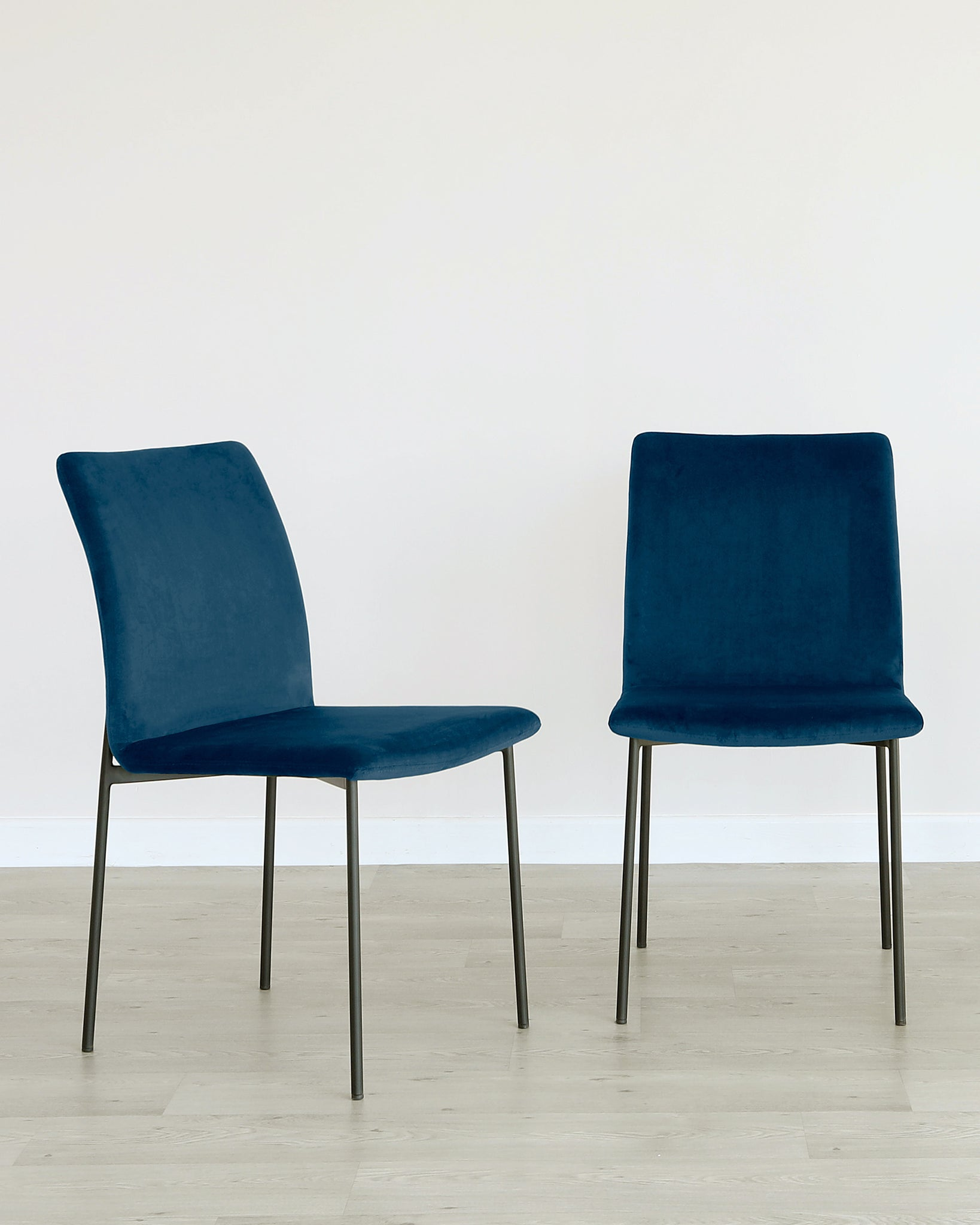 Leah Champagne Velvet Dining Chair - Set Of 2