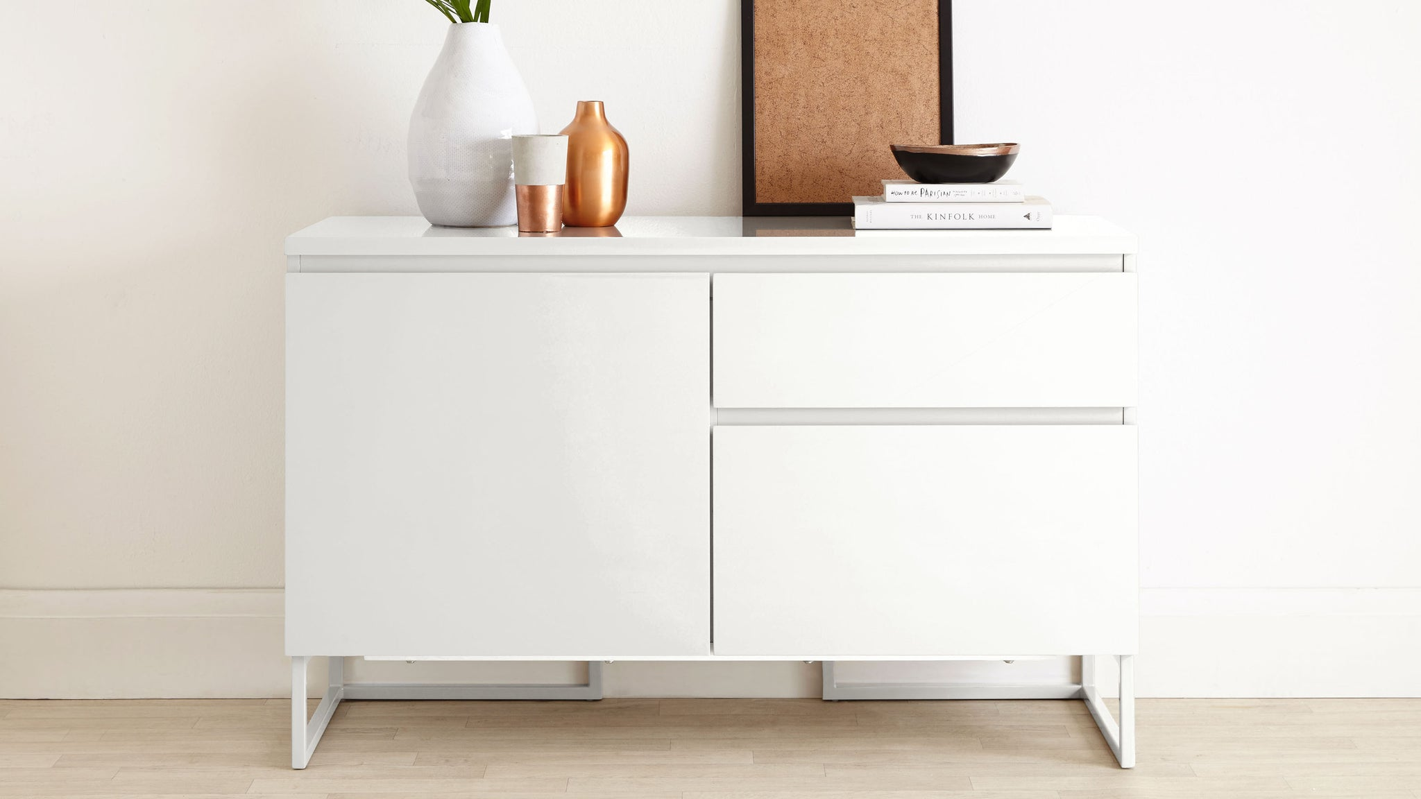 Lexi Compact White Gloss Sideboard