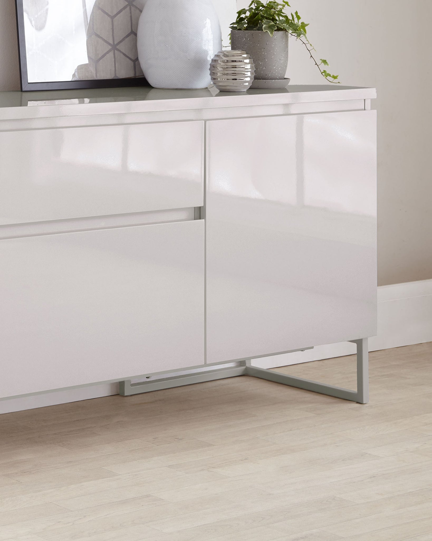 Lexi Grey Gloss Sideboard