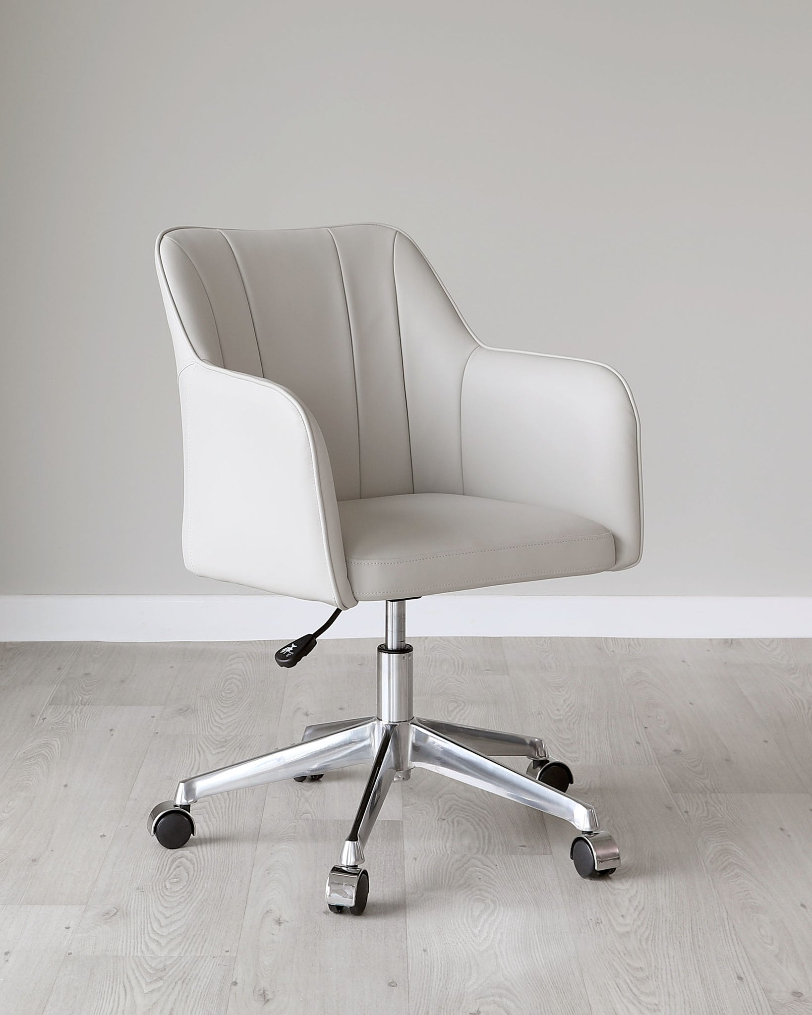 Logan Light Grey Faux Leather Office Chair