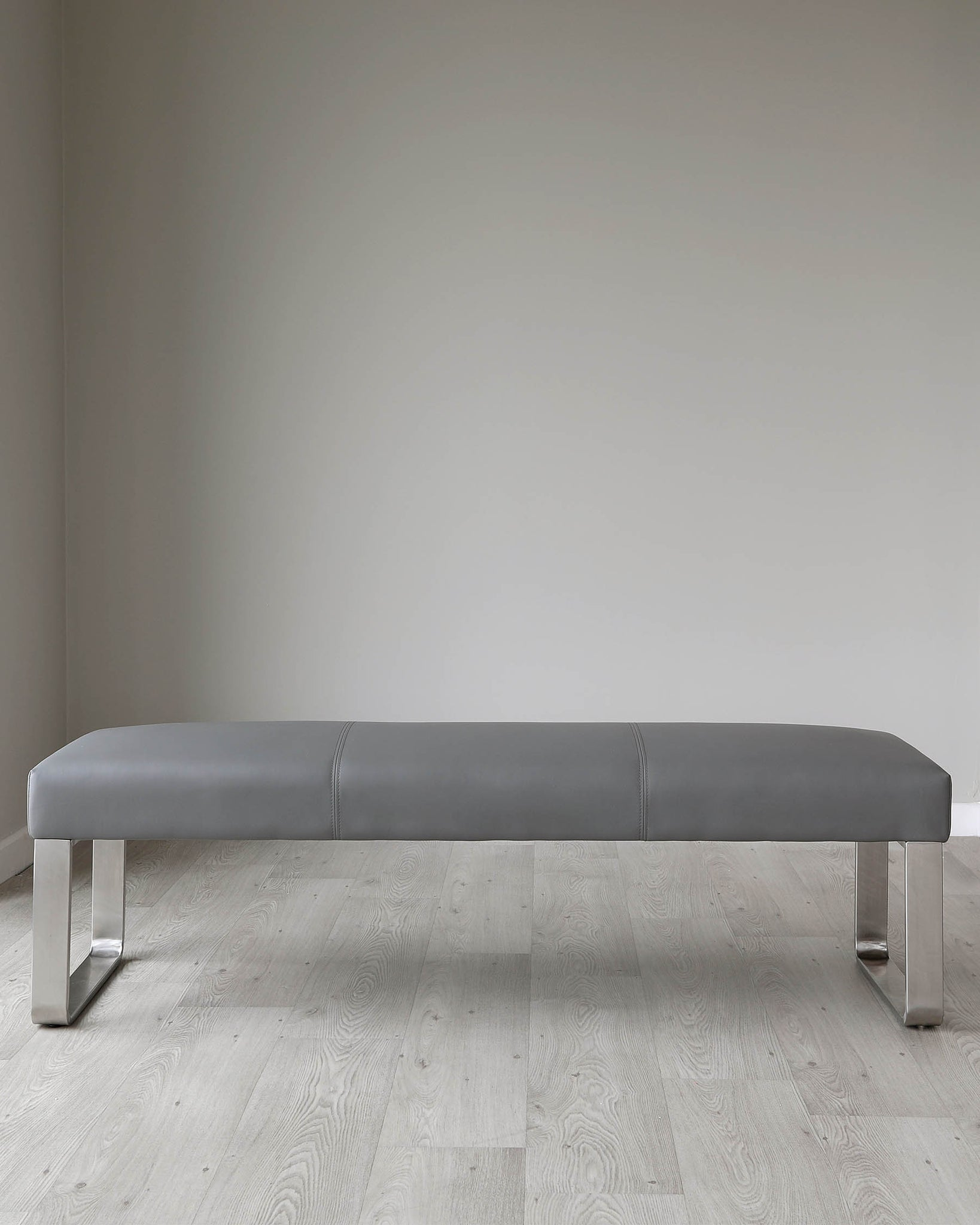 Mia Grey Ceramic Dining Table And Loop Dining Bench Set