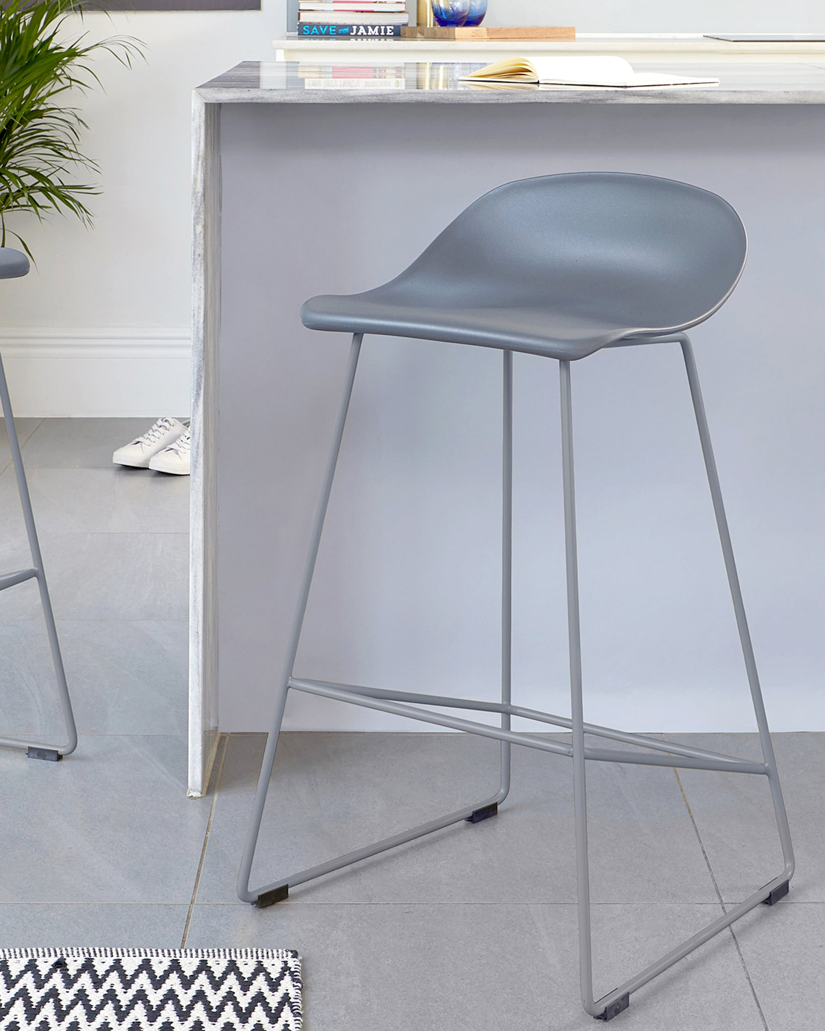 Luna Dark Grey Bar Stool - Set Of 2