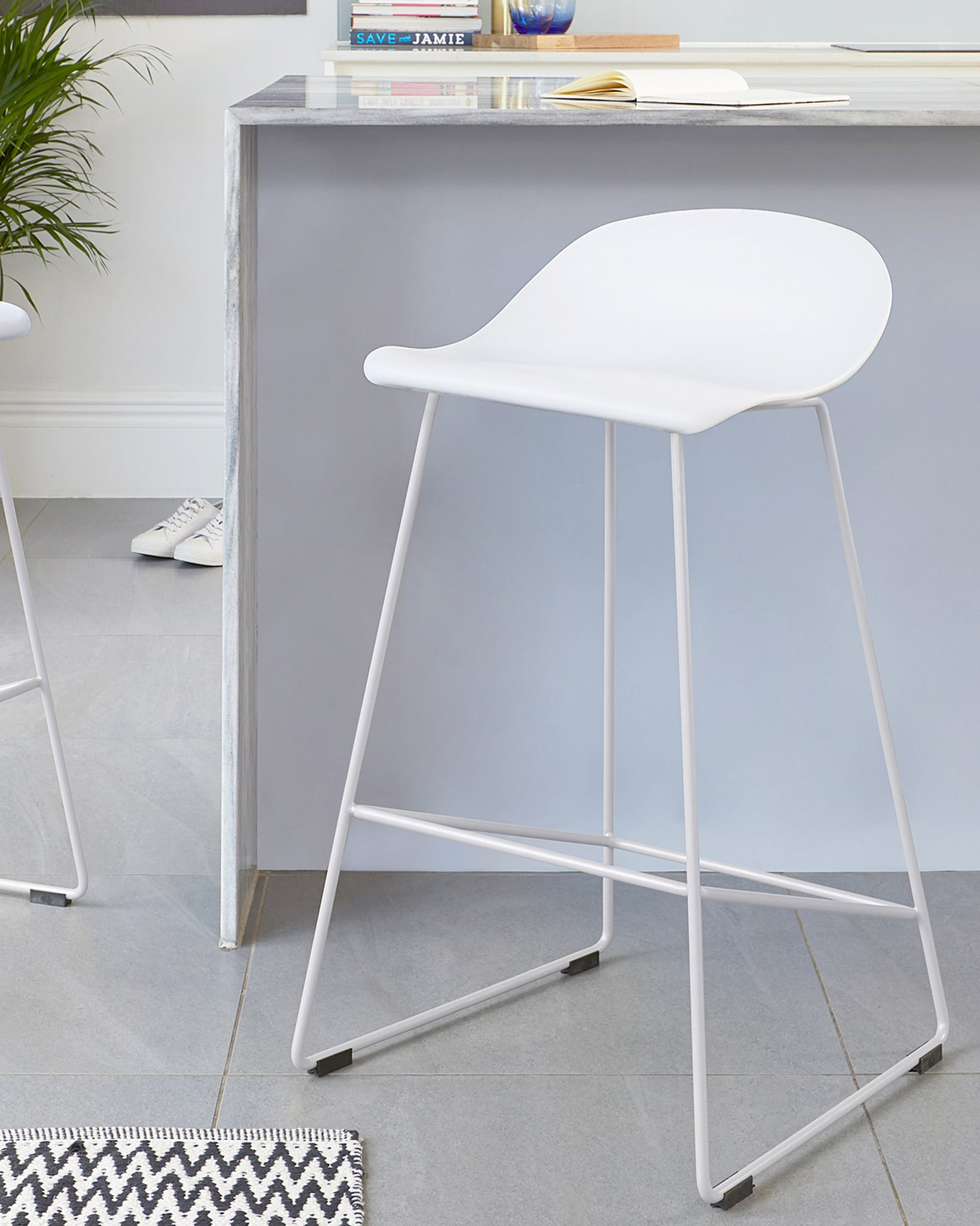 Luna White Bar Stool - Set Of 2