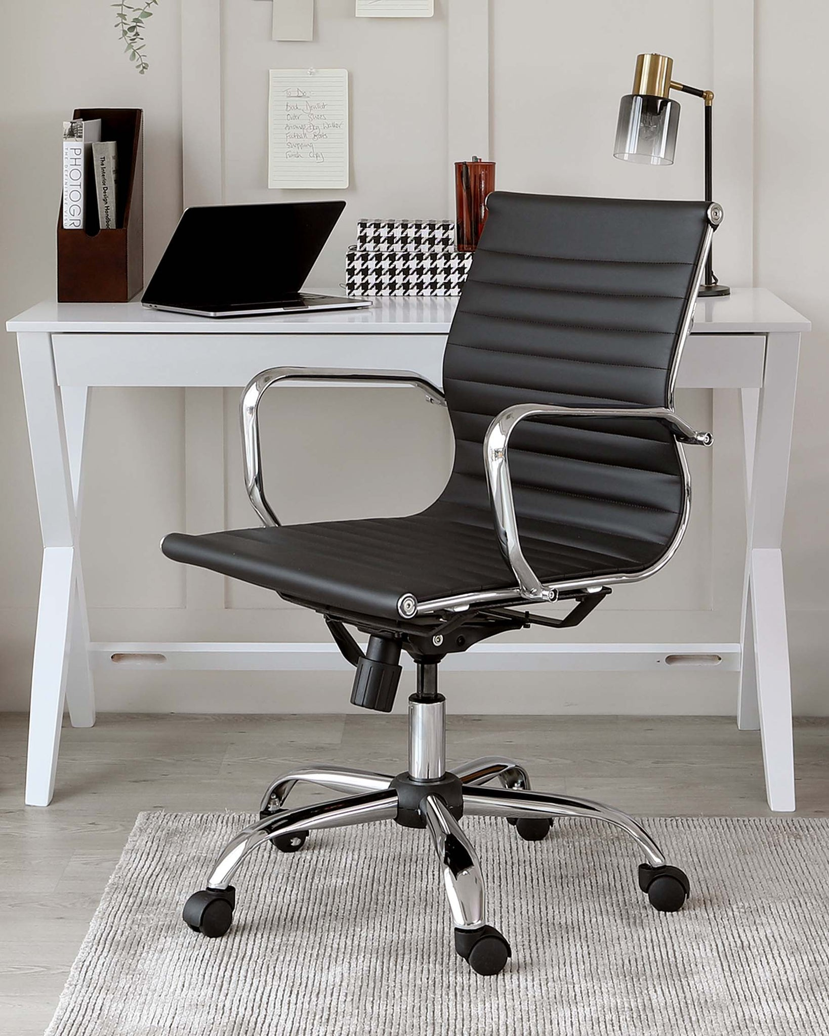 Marco Black Faux Leather Office Chair