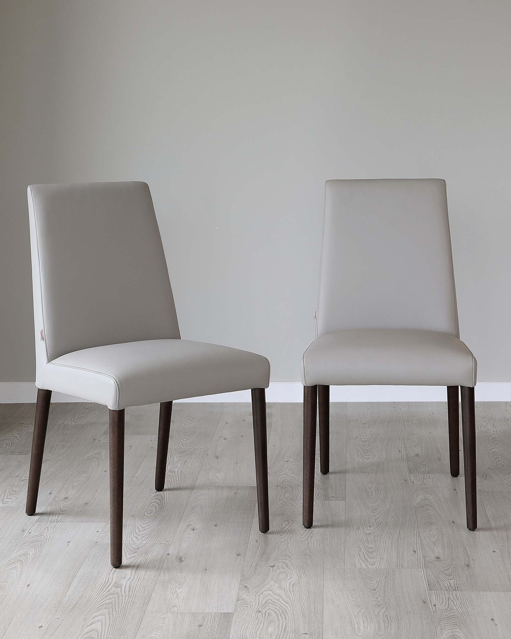 Mason Light Grey Real Leather Dining Chair - Set Of 2