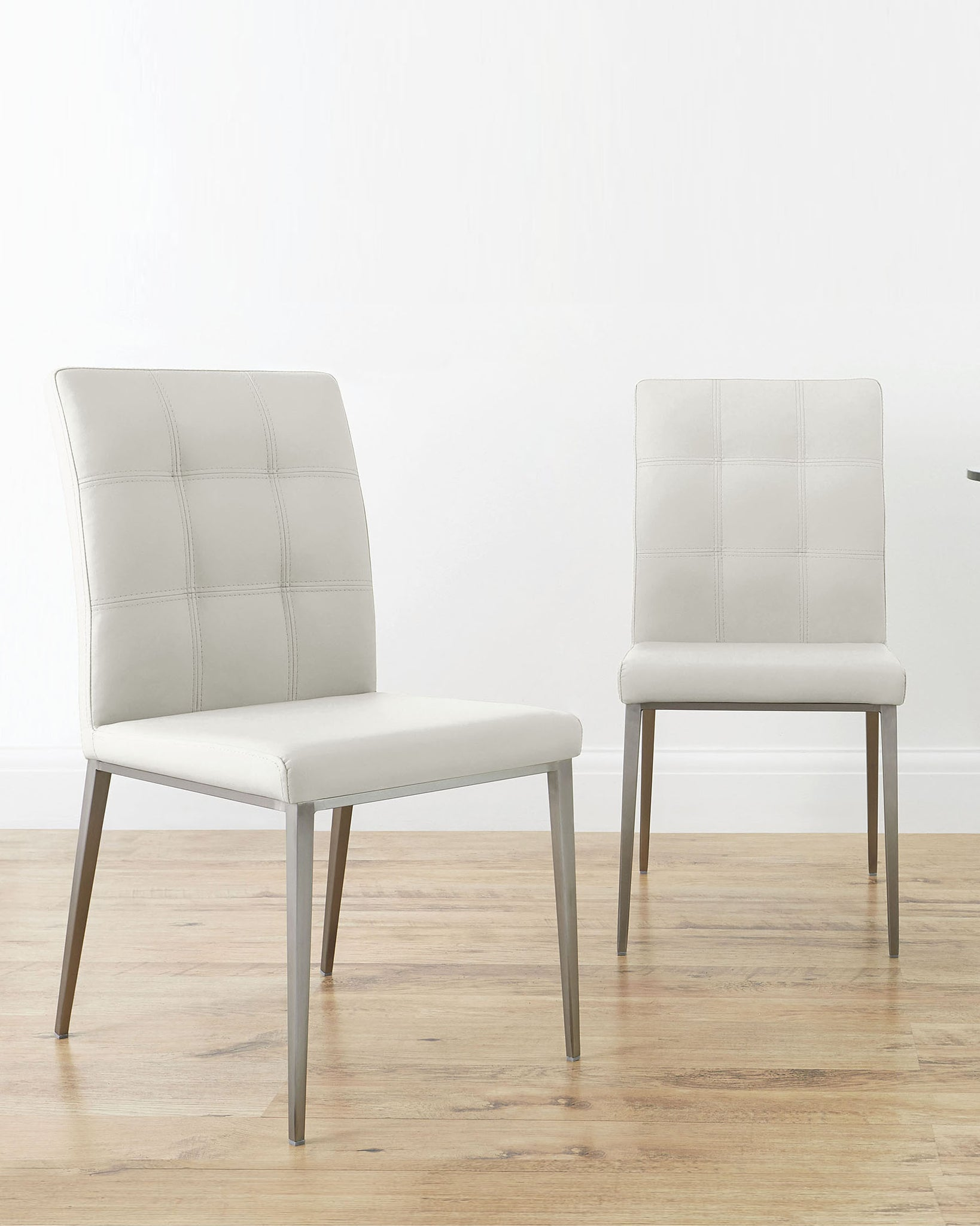 Moda White Faux Leather Dining Chair - Set Of 2