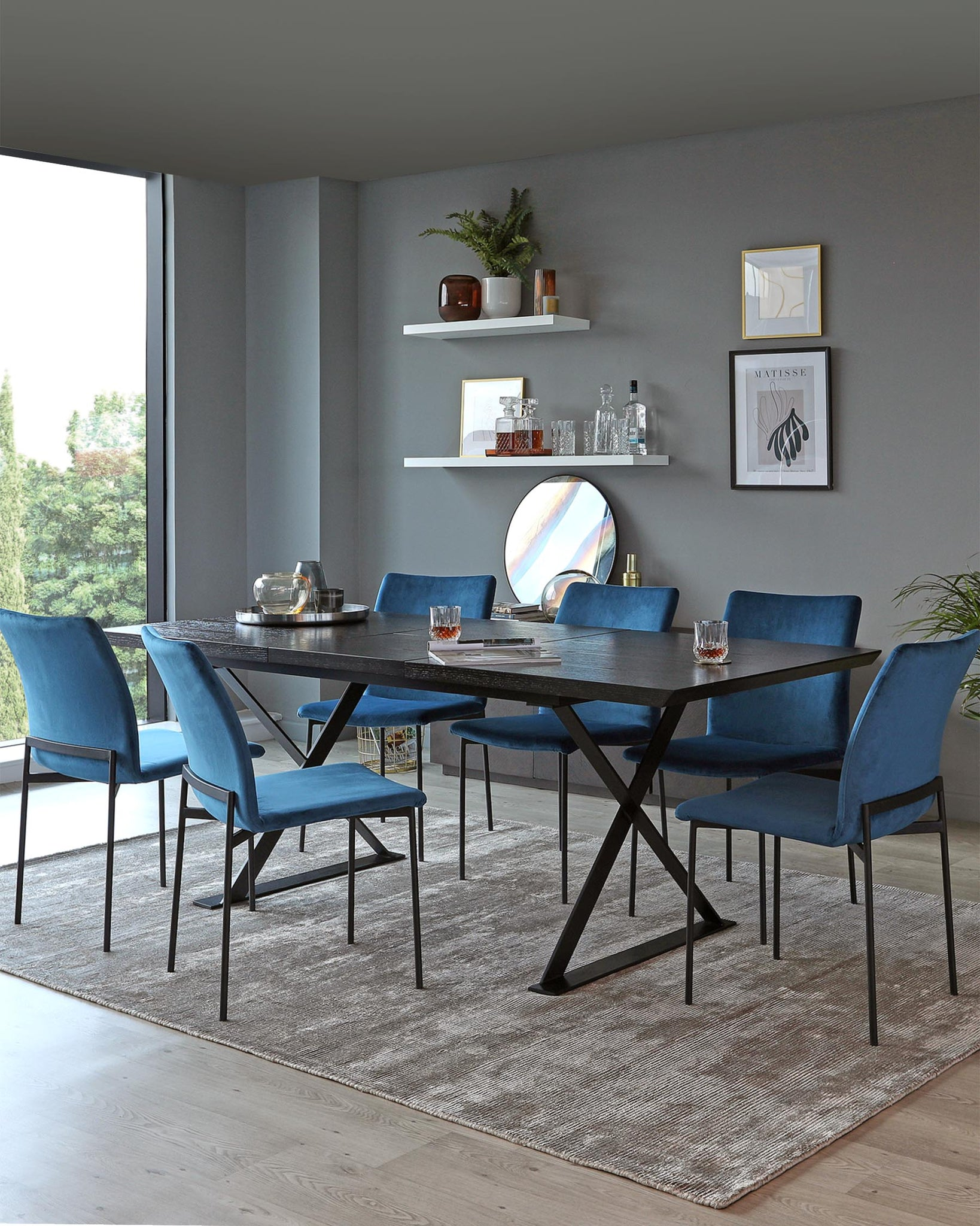 Nala Dark Washed Oak Extending Dining Table