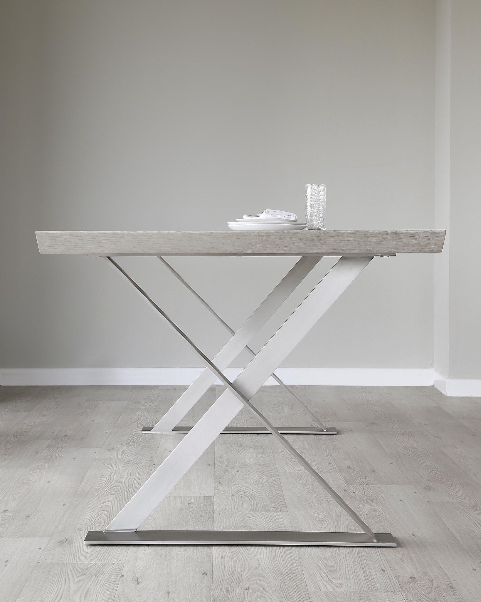 Nala Grey Oak 6 Seater Dining Table