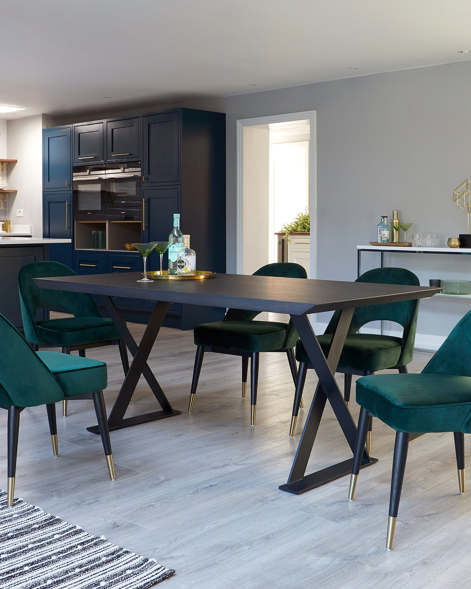 Nala Dark Washed Oak 6 Seater Dining Table
