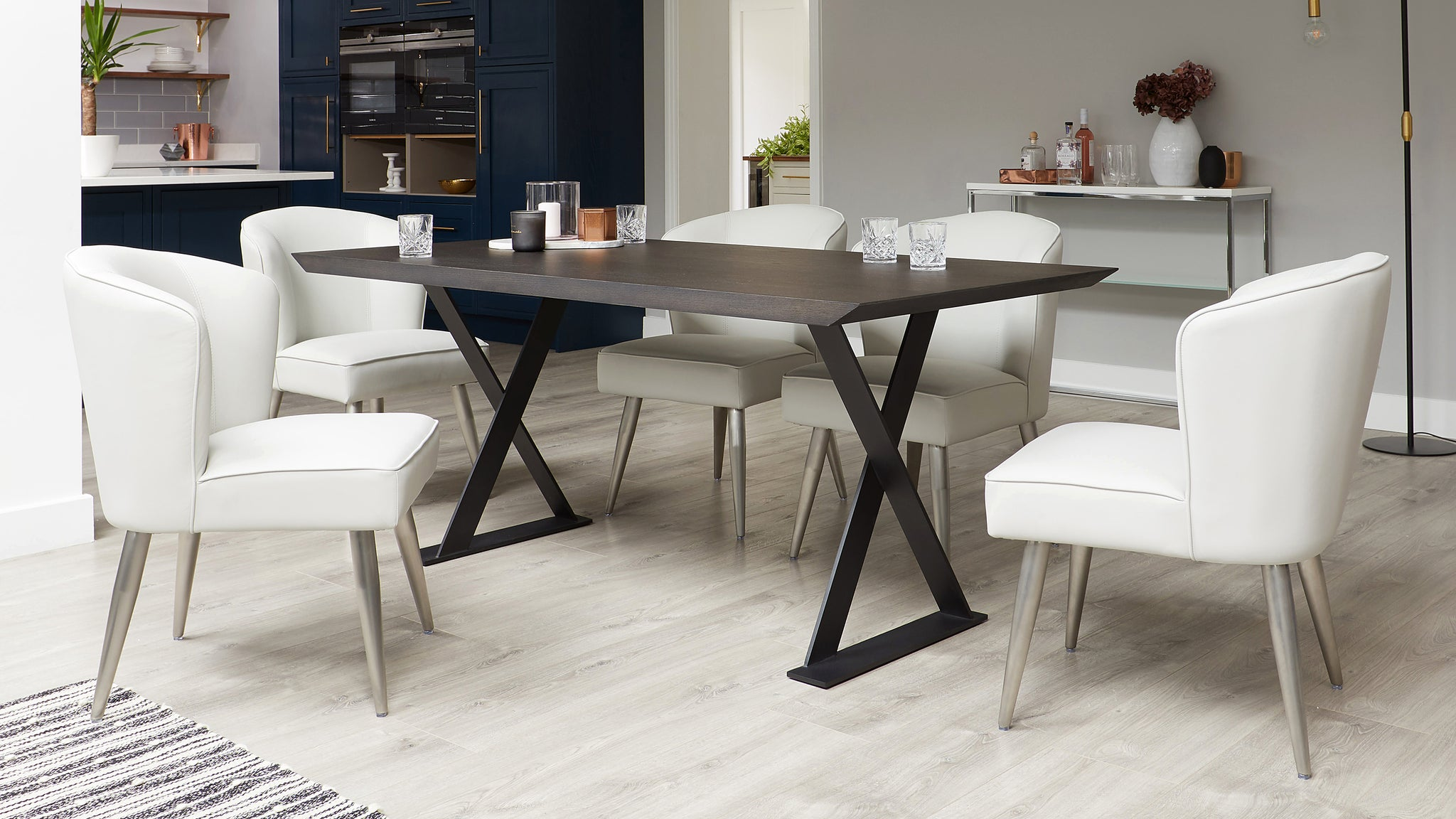 Nala Dark Oak And Mellow Dining Set